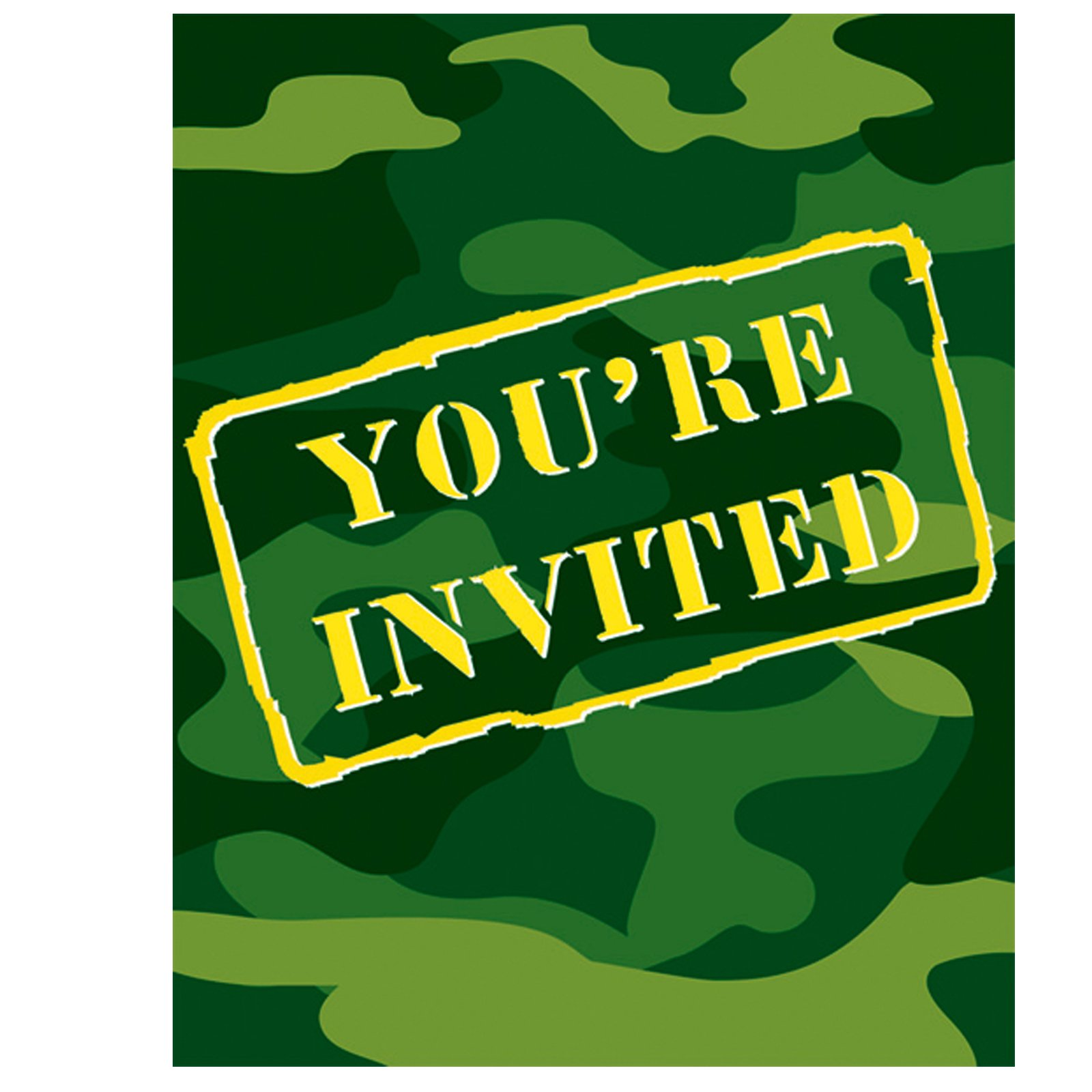 Camo Gear Invitations (8 count)