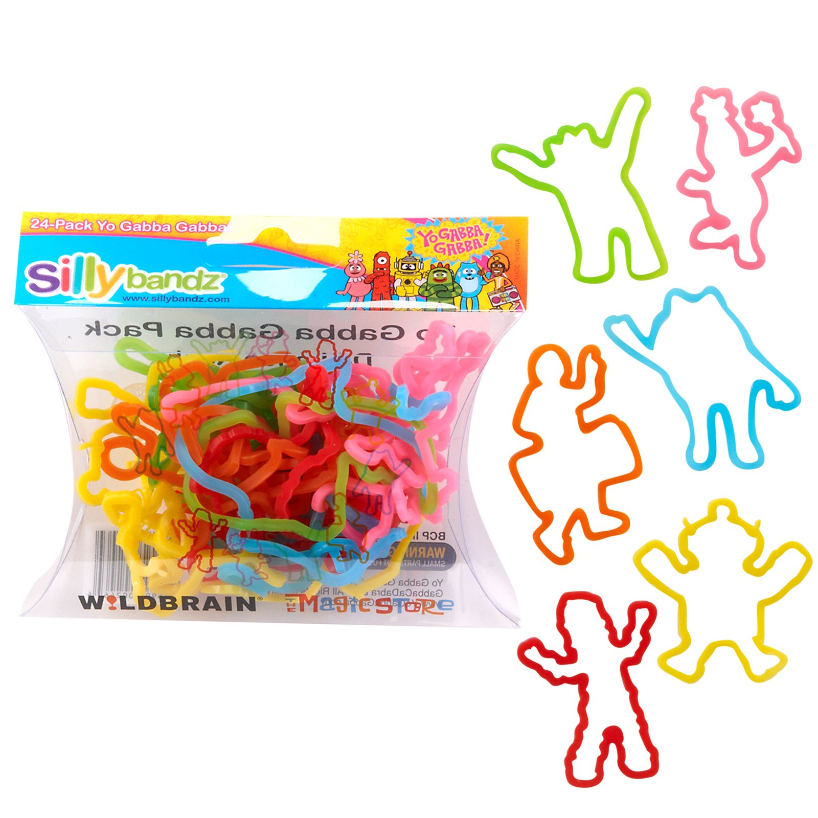 Yo Gabba Gabba Assorted Silly Bandz (24 count)