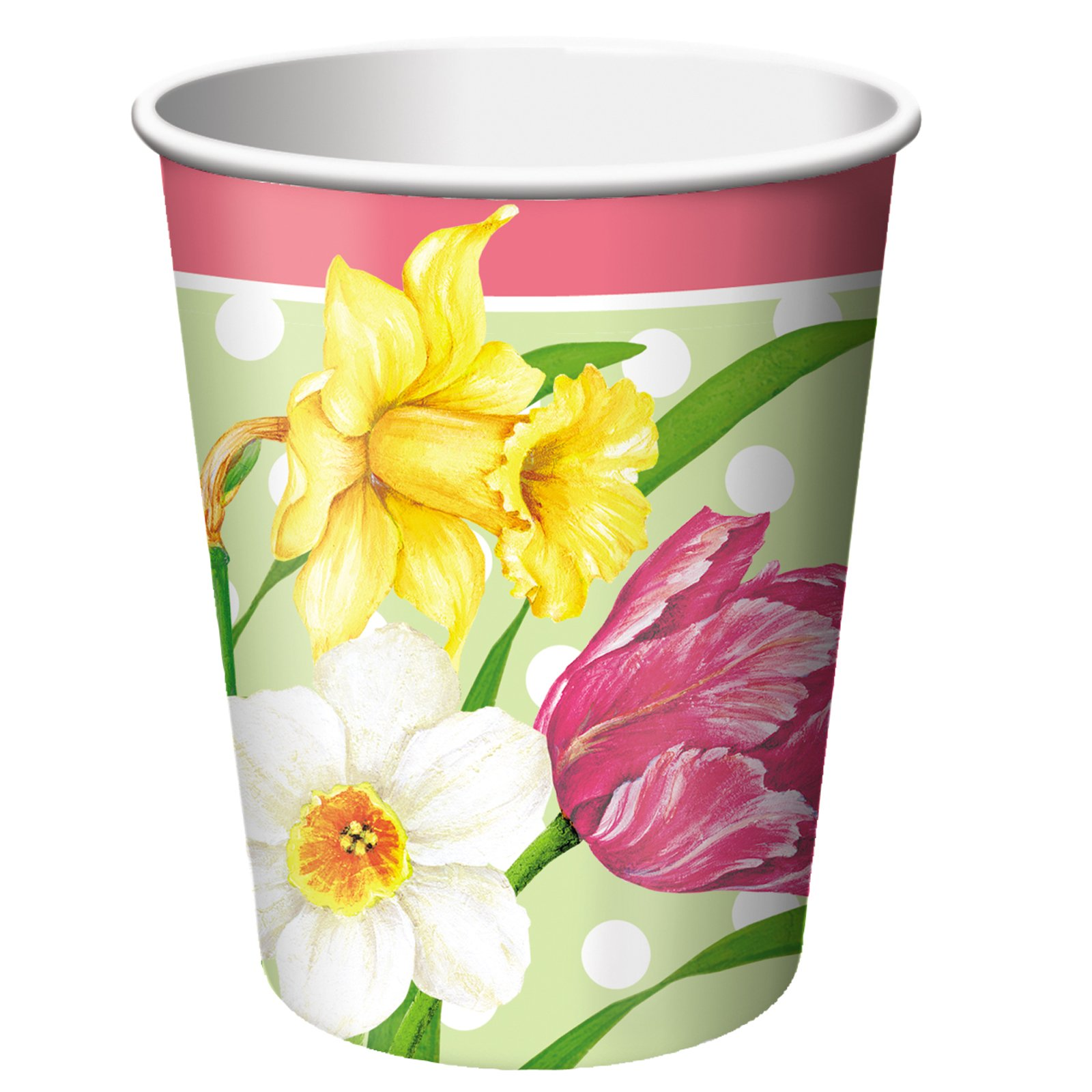Polka Dot Garden 9 oz. Paper Cups (8 count)