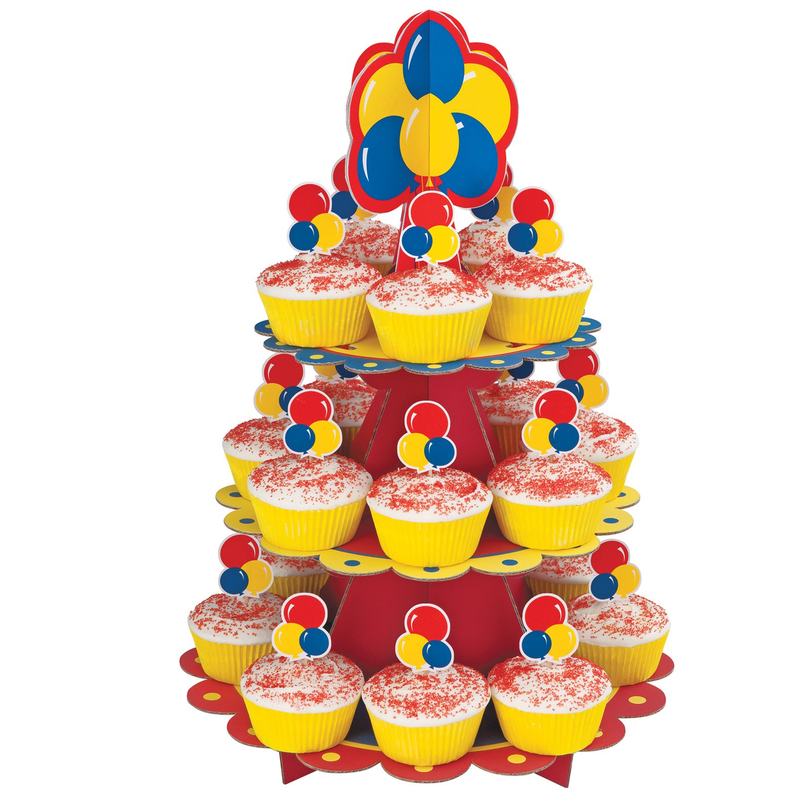 Primary Colors Cupcake Stand Kit