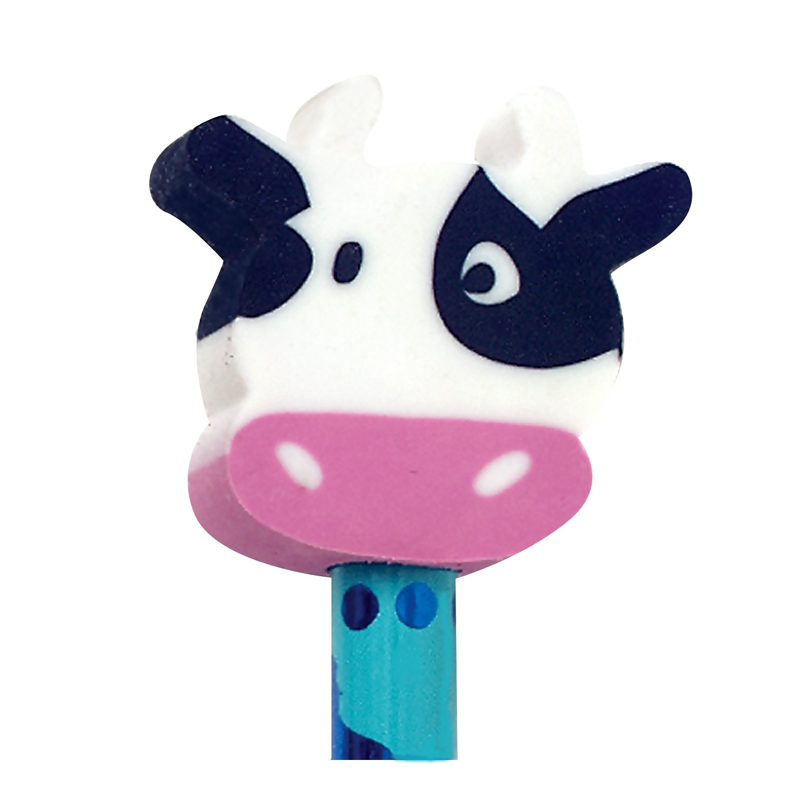 Cow Eraser Toppers (8 count)