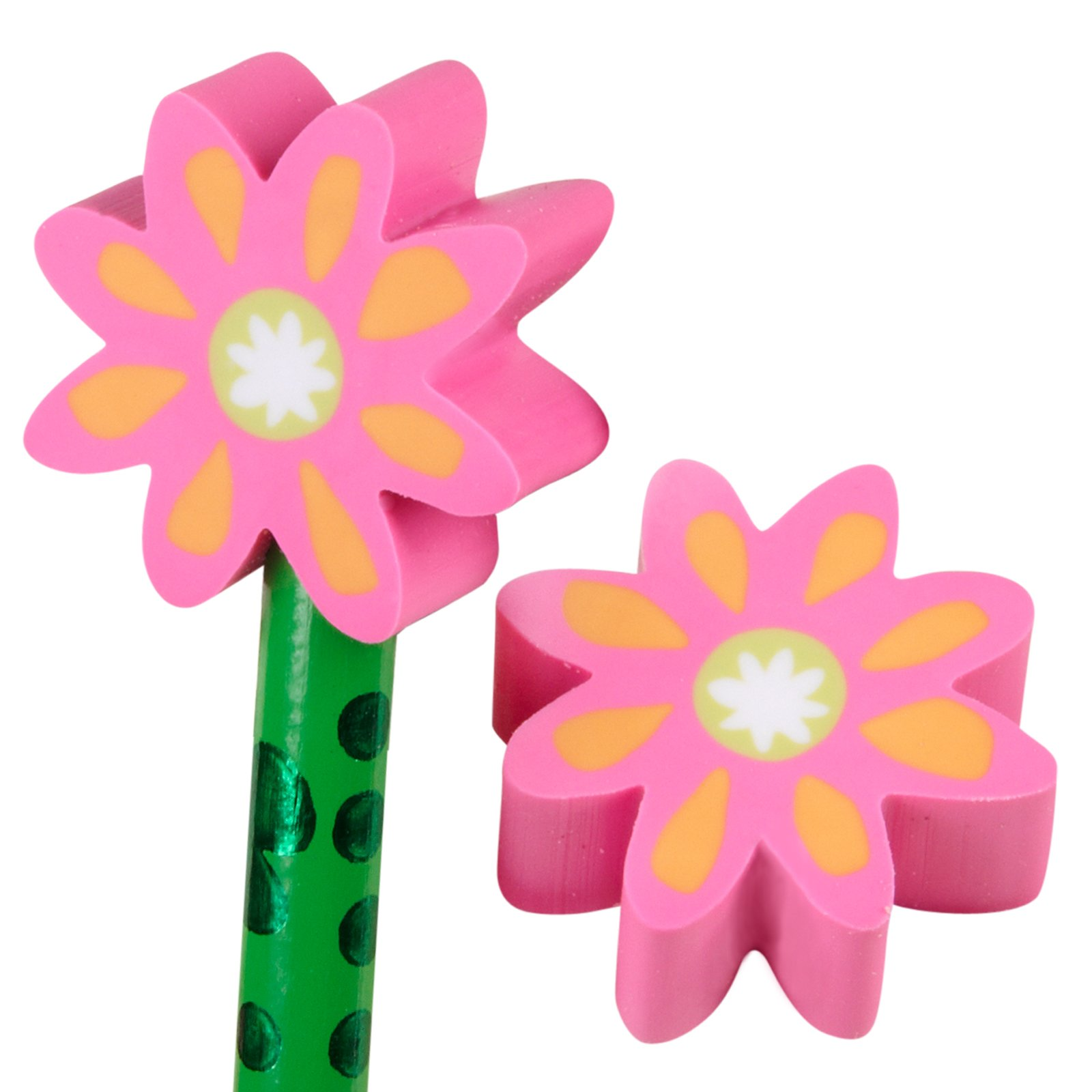 Flower Eraser Toppers (8 count)