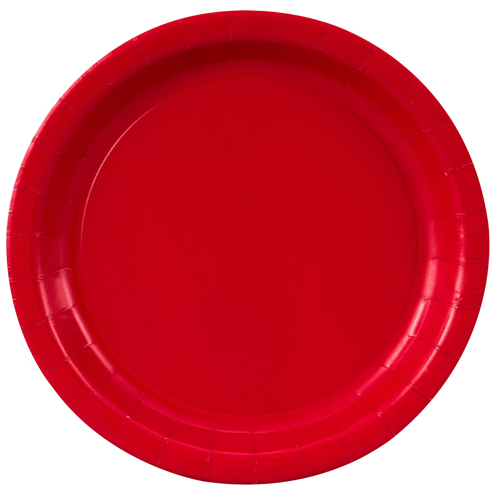 Classic Red (Red) Paper Dinner Plates (24 count)