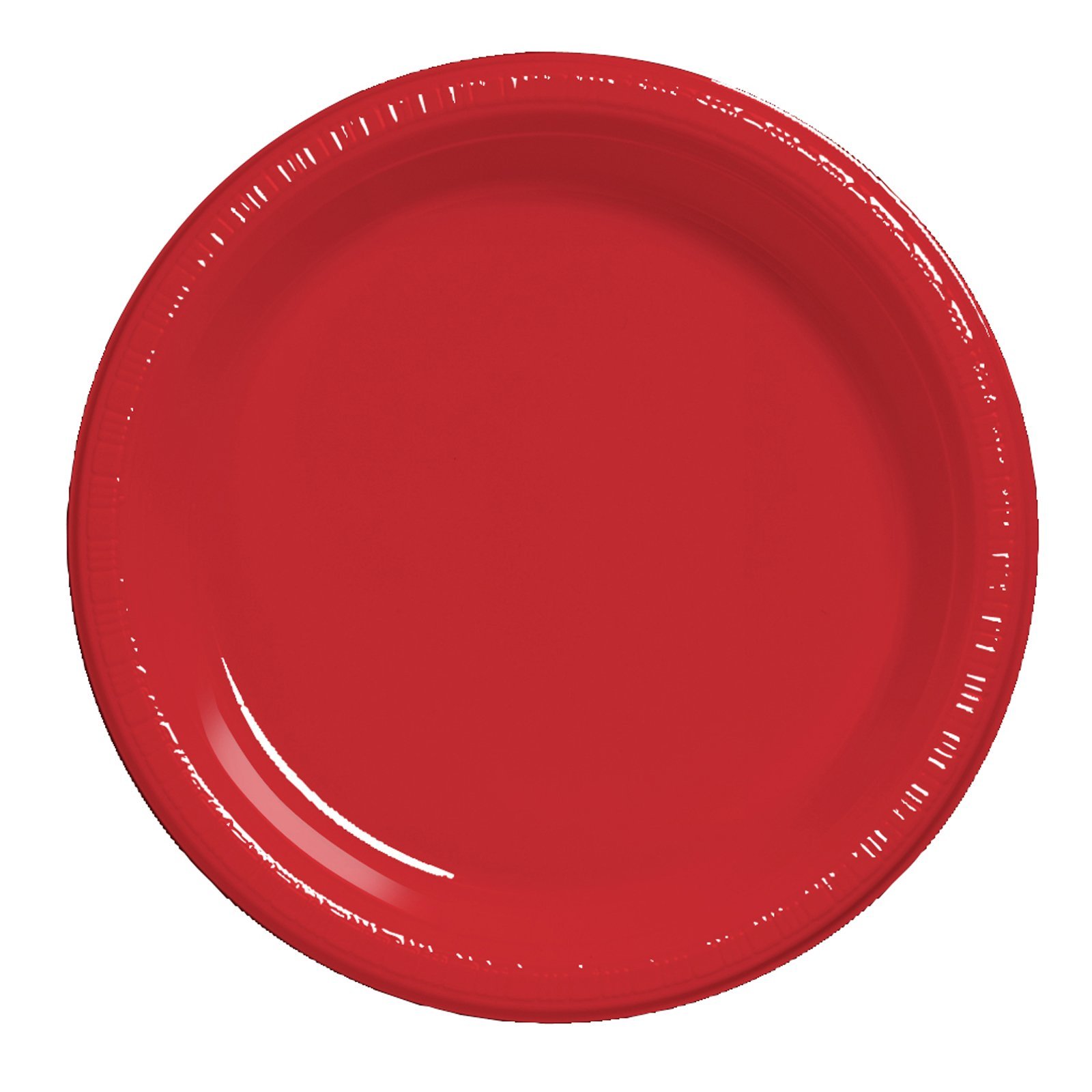 Classic Red (Red) Plastic Dinner Plates (20 count)