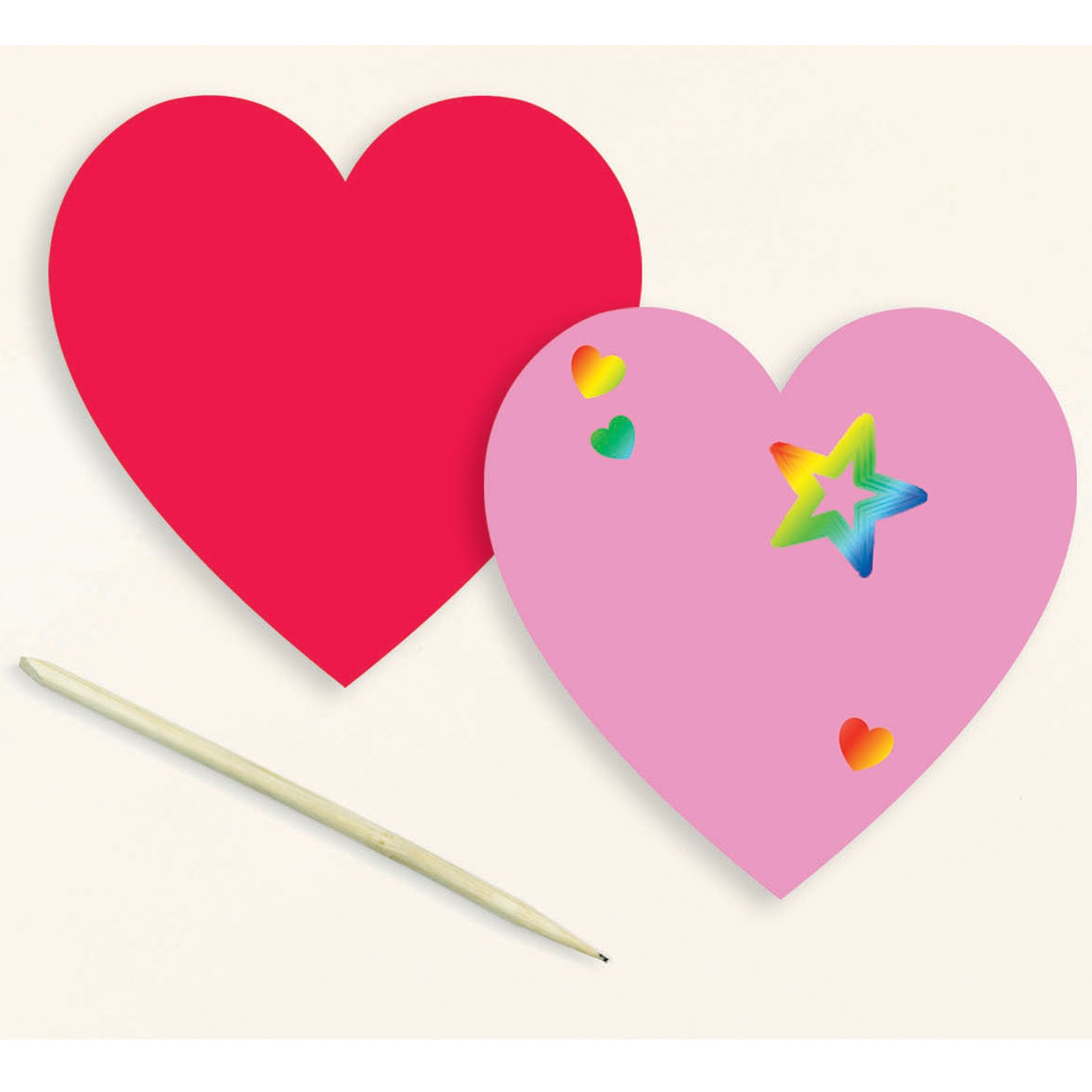 Scratch and Draw Hearts