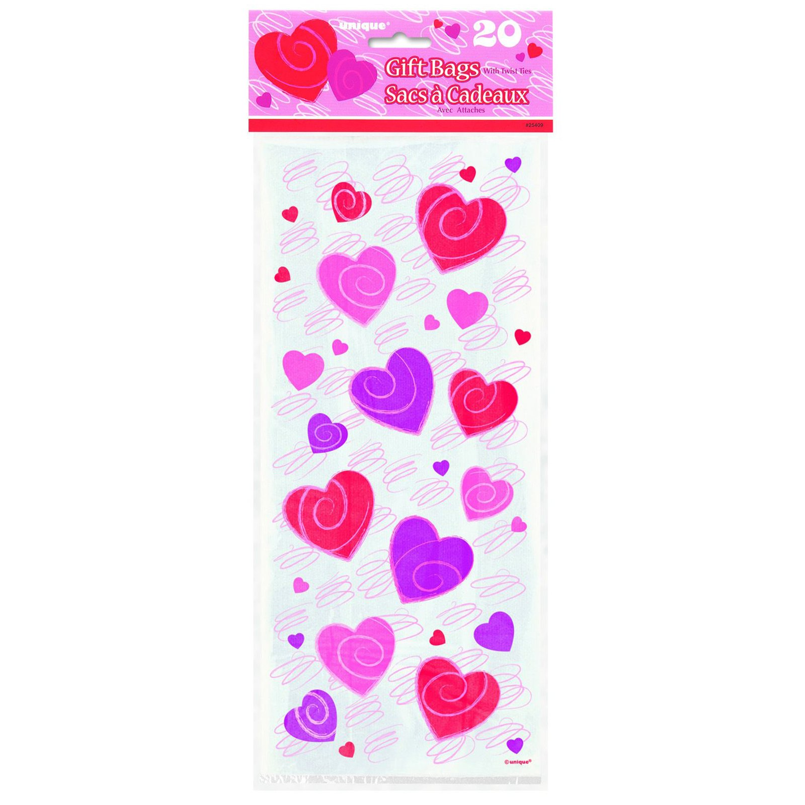 Hearts-A-Whirl Cello Bags (20 count)
