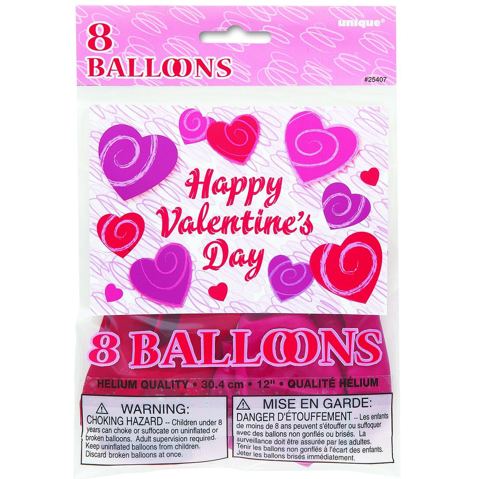 "Hearts-A-Whirl 12"" Latex Balloons Assorted (8 count)"