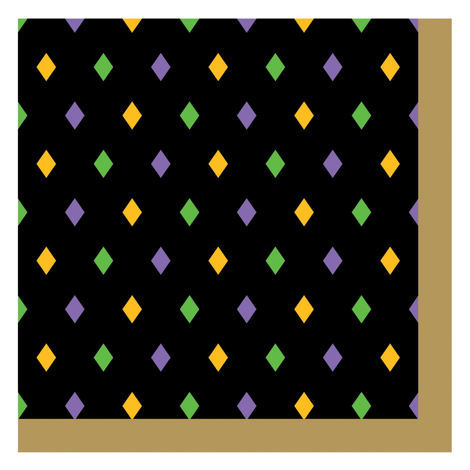 Mardi Gras Magic Beverage Napkins (18 count)
