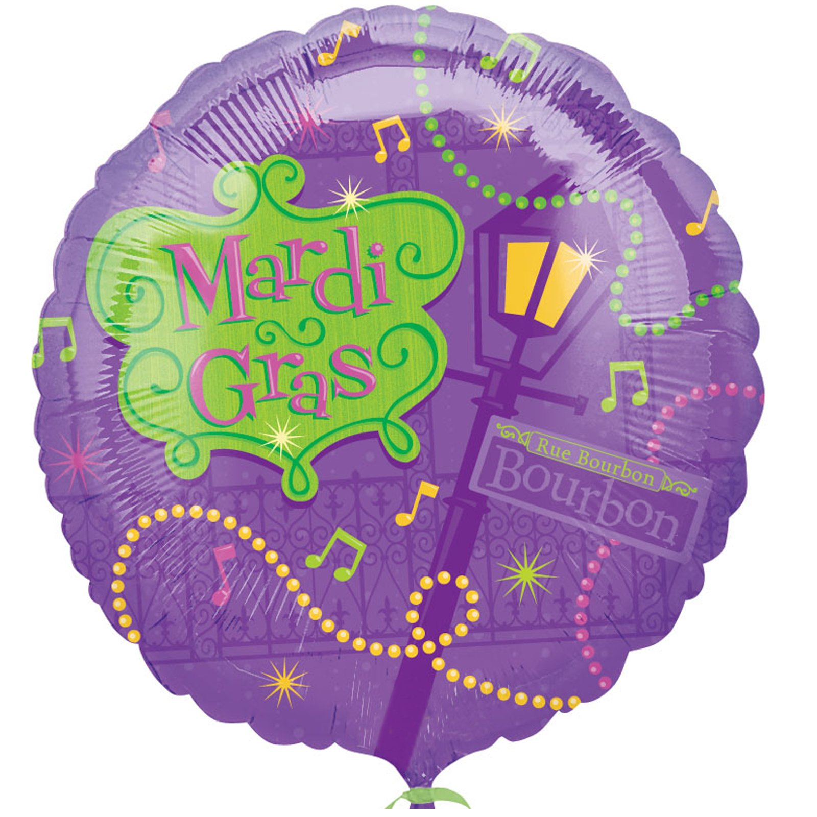 "Bourbon Street 18"" Foil Balloon - Click Image to Close"