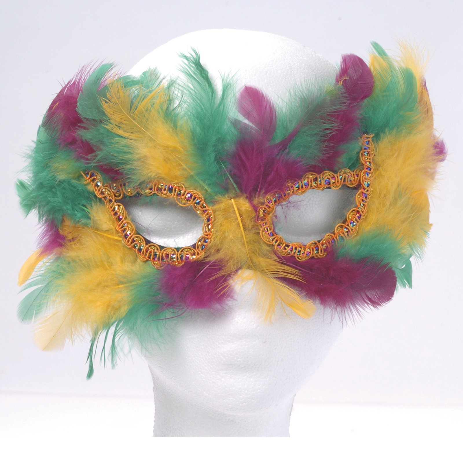 Mardi Gras Feather Cat Eye Mask