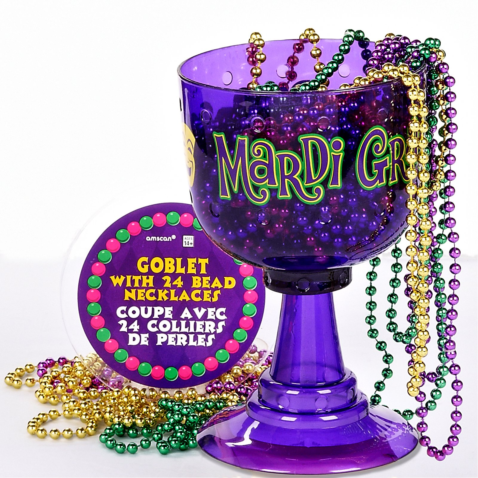 Mardi Gras Cup with Bead Necklaces
