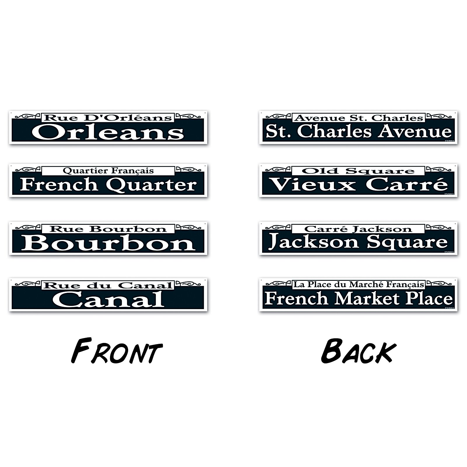 Mardi Gras Street Sign Cutouts (4 count)