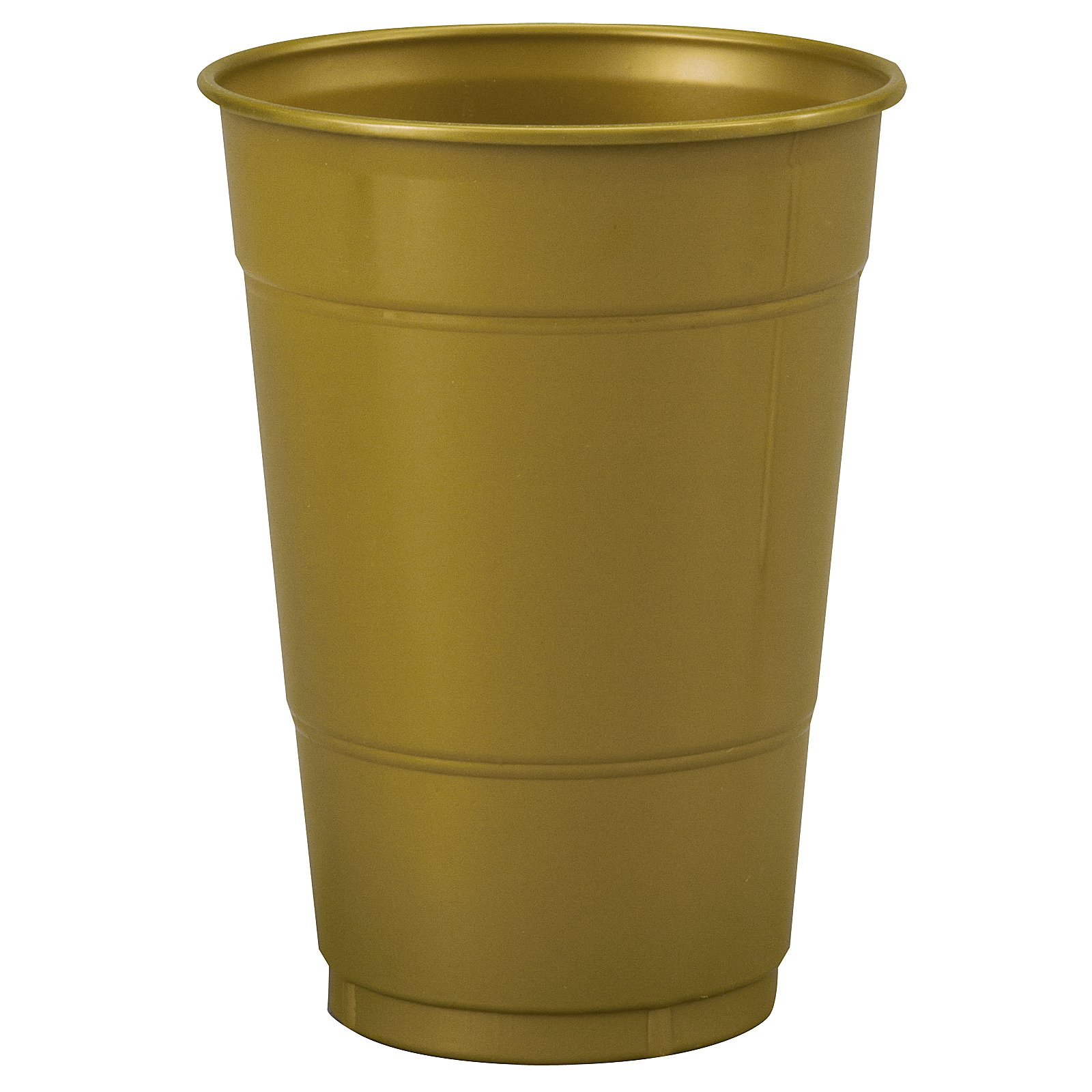 Glittering Gold (Gold) 16 oz. Plastic Cups (20 count)