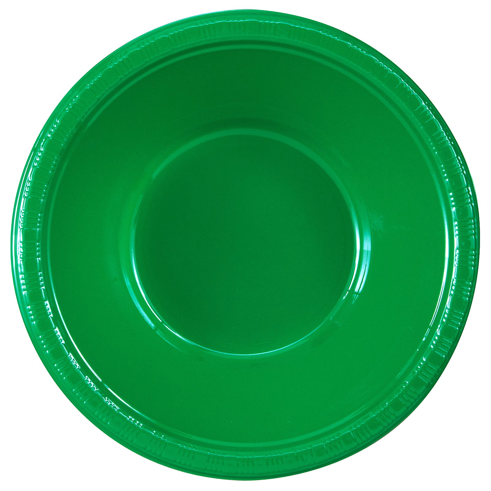 Emerald Green (Green) Plastic Bowls (20 count) - Click Image to Close