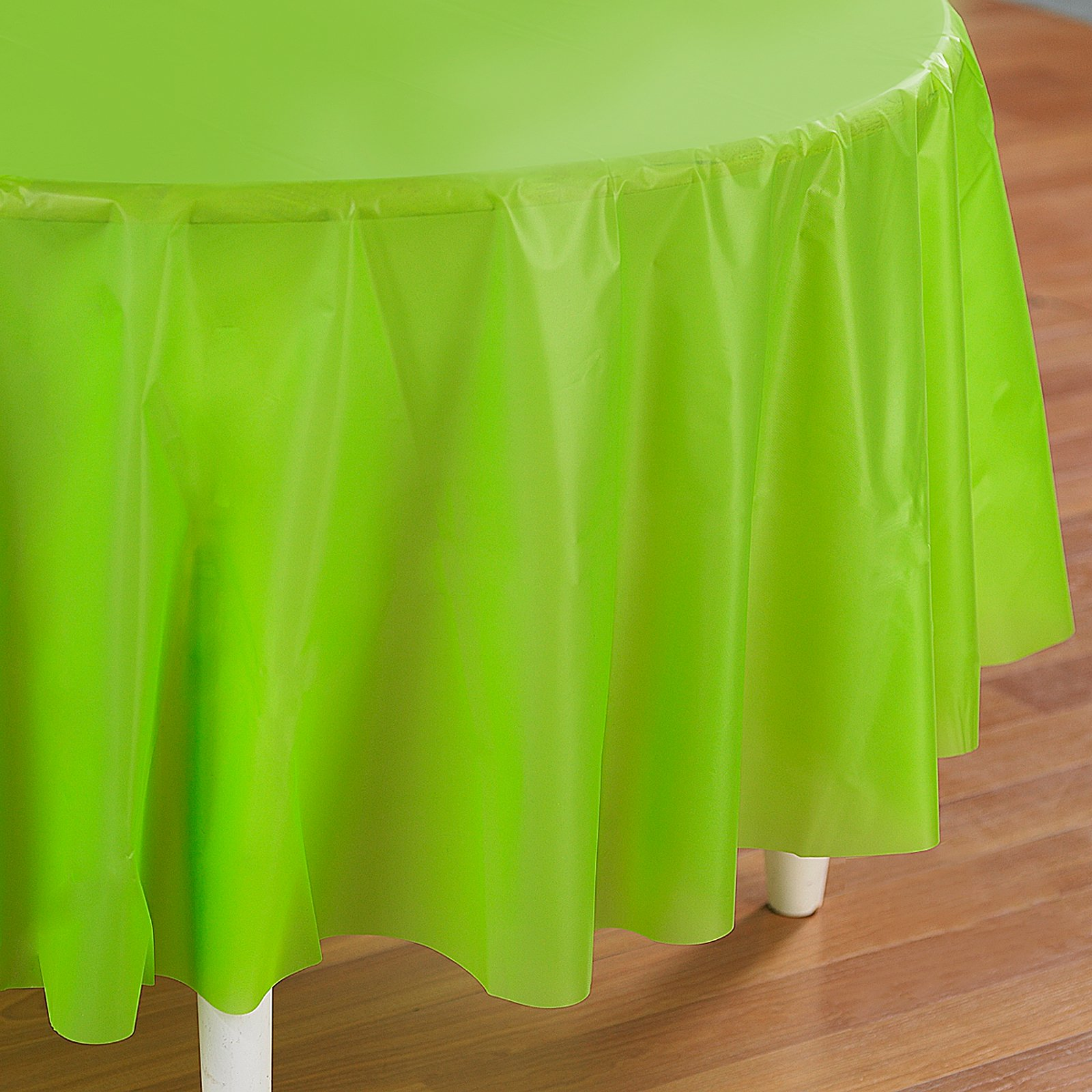 Fresh Lime (Lime Green) Round Plastic Tablecover