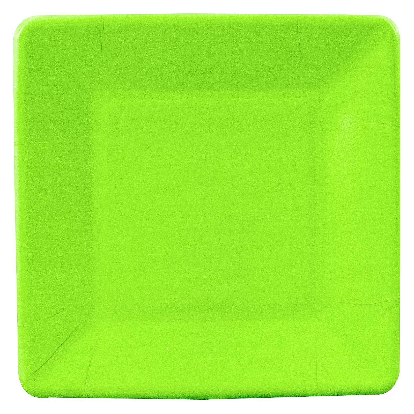 Fresh Lime (Lime Green) Square Dessert Plates (18 count)