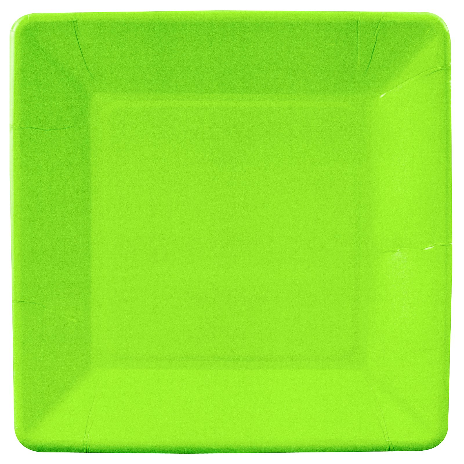 Fresh Lime (Lime Green) Square Dinner Plates (18 count)