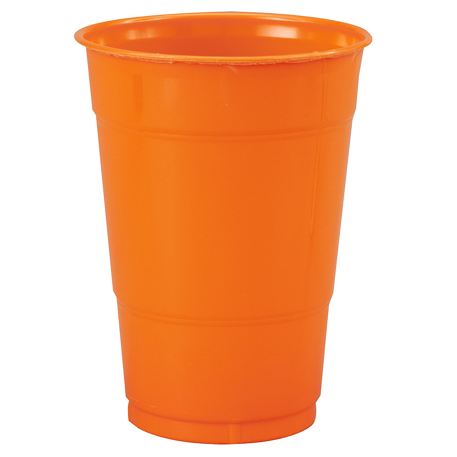 Sunkissed Orange (Orange) 16 oz. Plastic Cups (20 count)