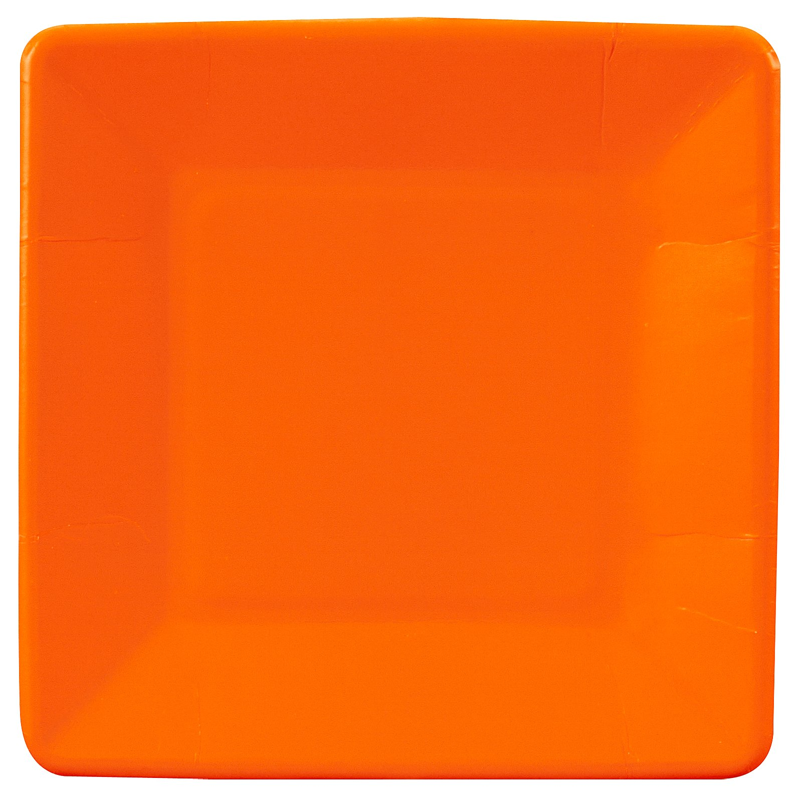 Sunkissed Orange (Orange) Square Dessert Plates (18 count)
