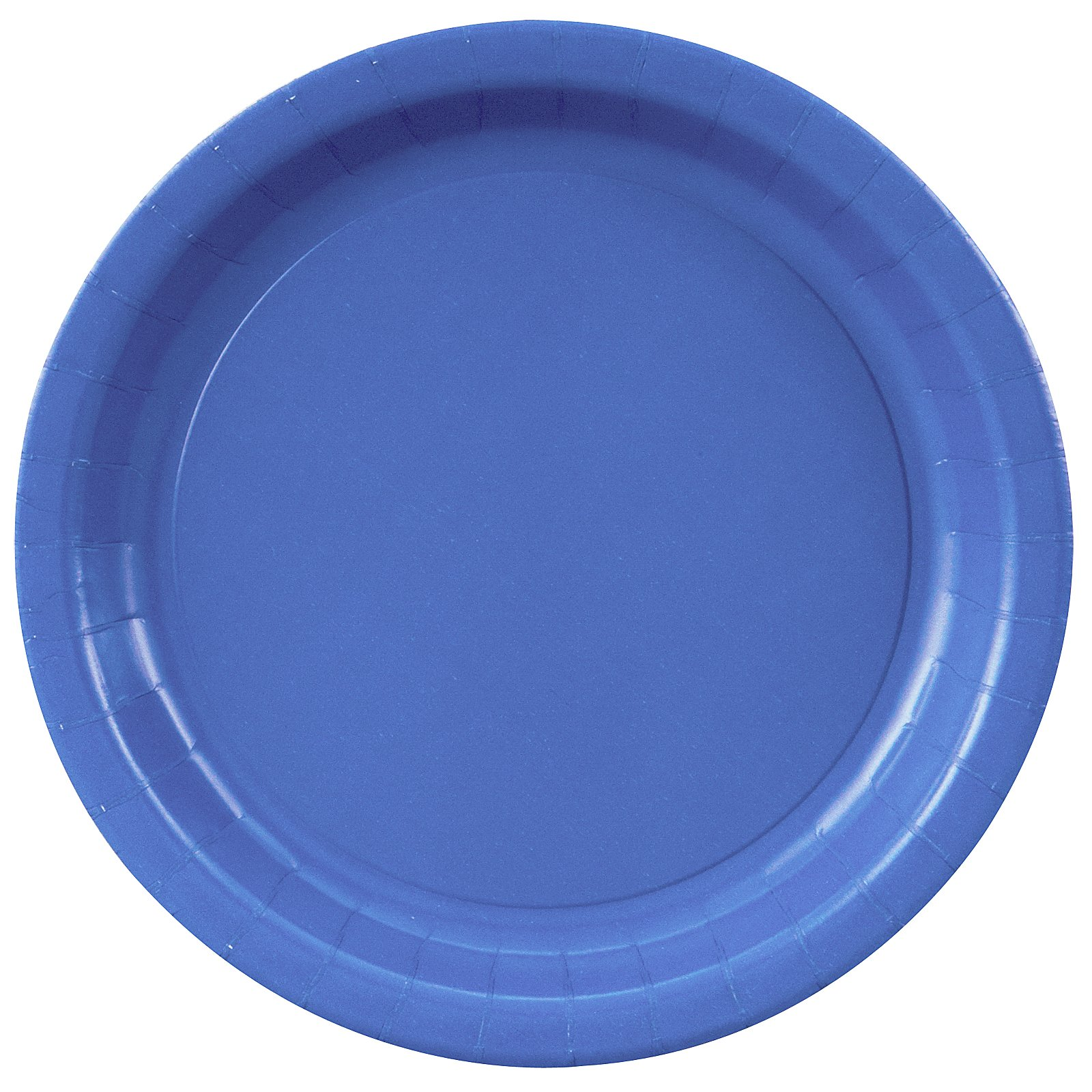 True Blue (Blue) Paper Dinner Plates (24 count)