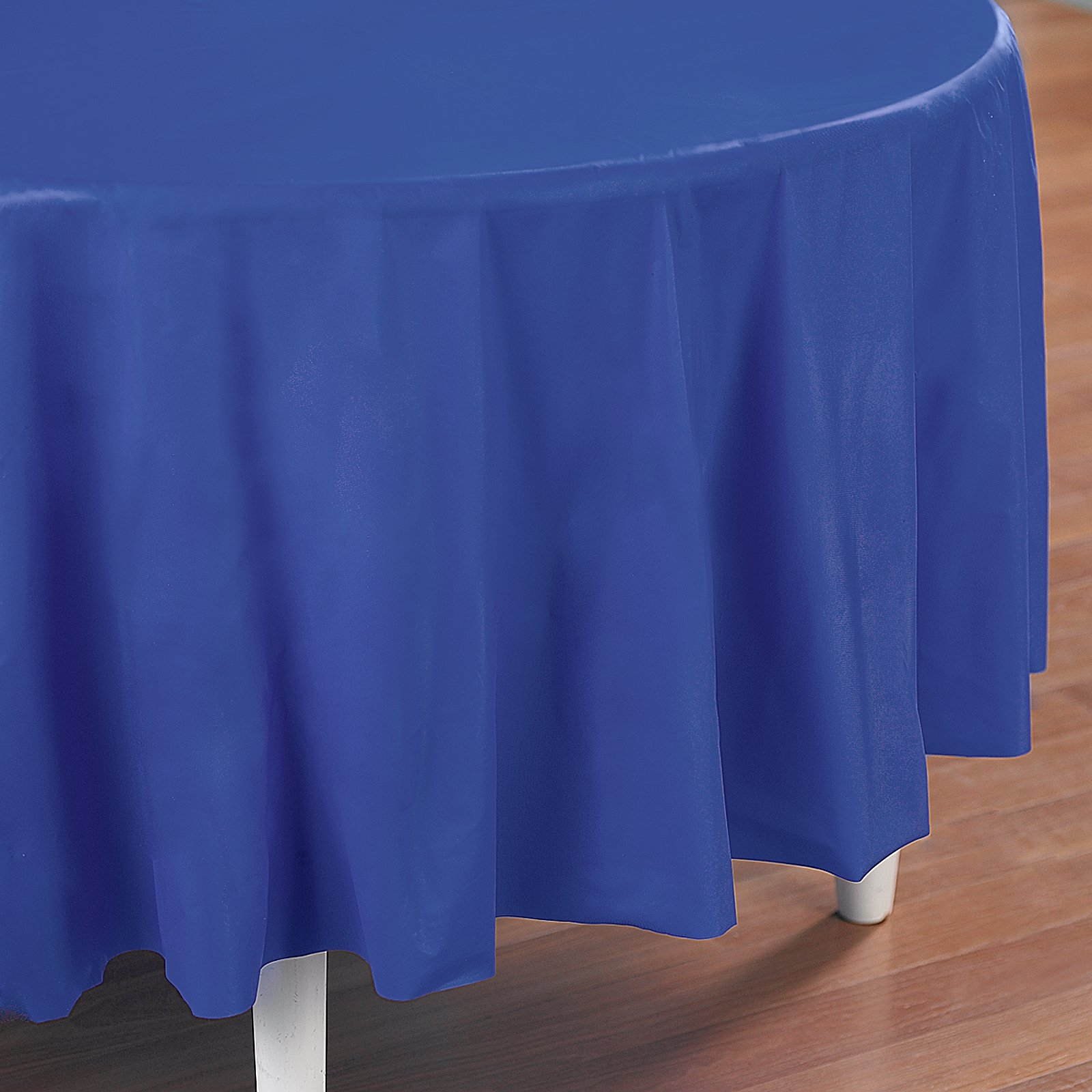 True Blue (Blue) Round Plastic Tablecover