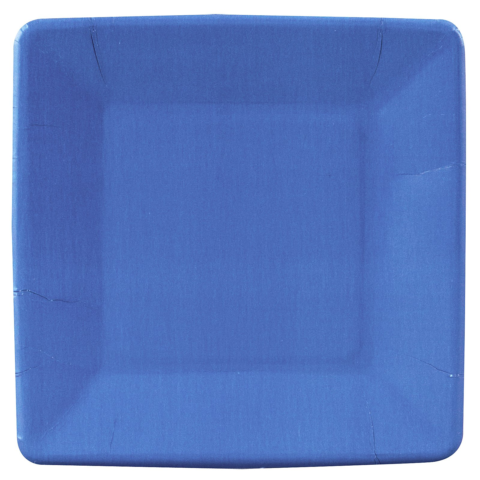 True Blue (Blue) Square Dessert Plates (18 count)