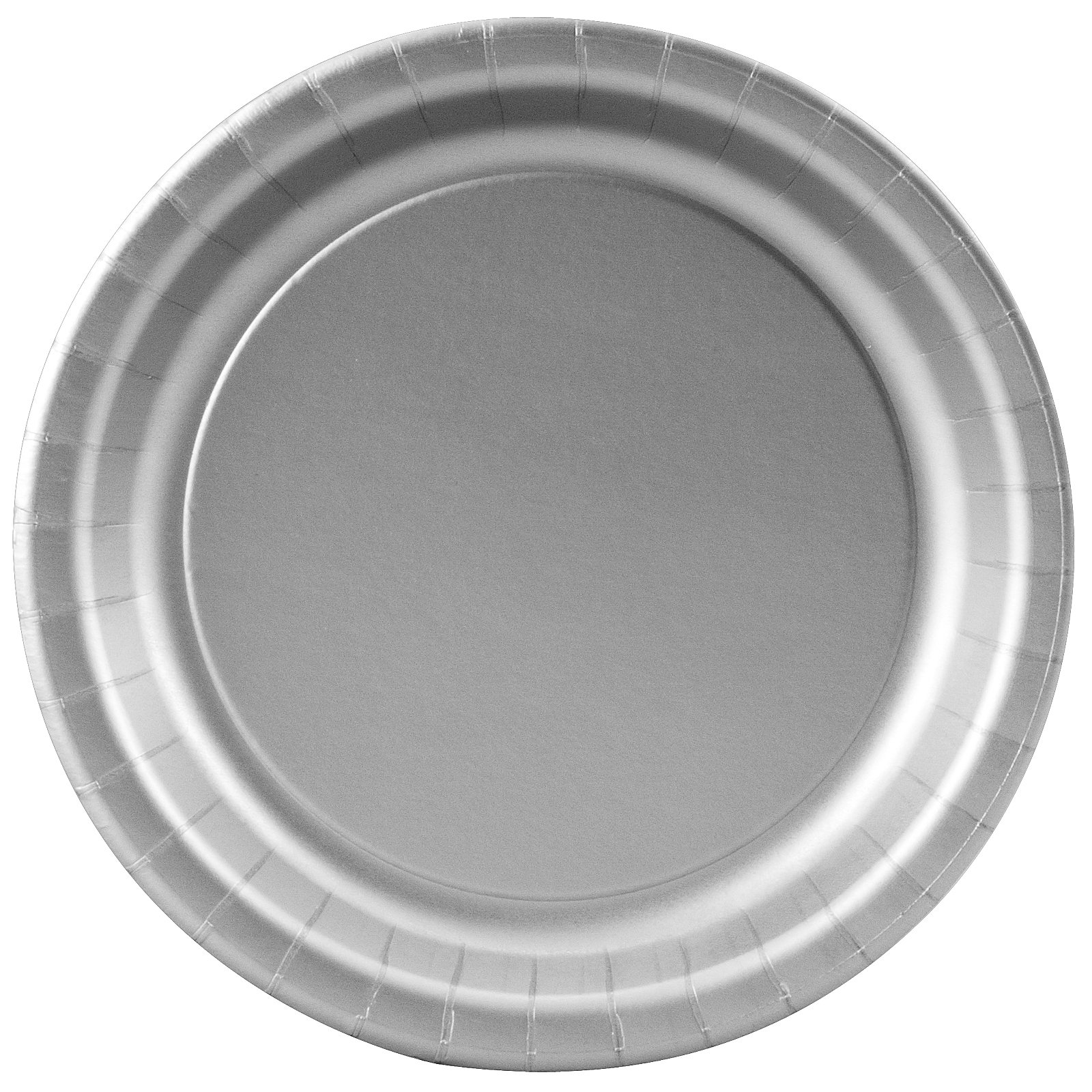 Shimmering Silver (Silver) Paper Dessert Plates (24 count)