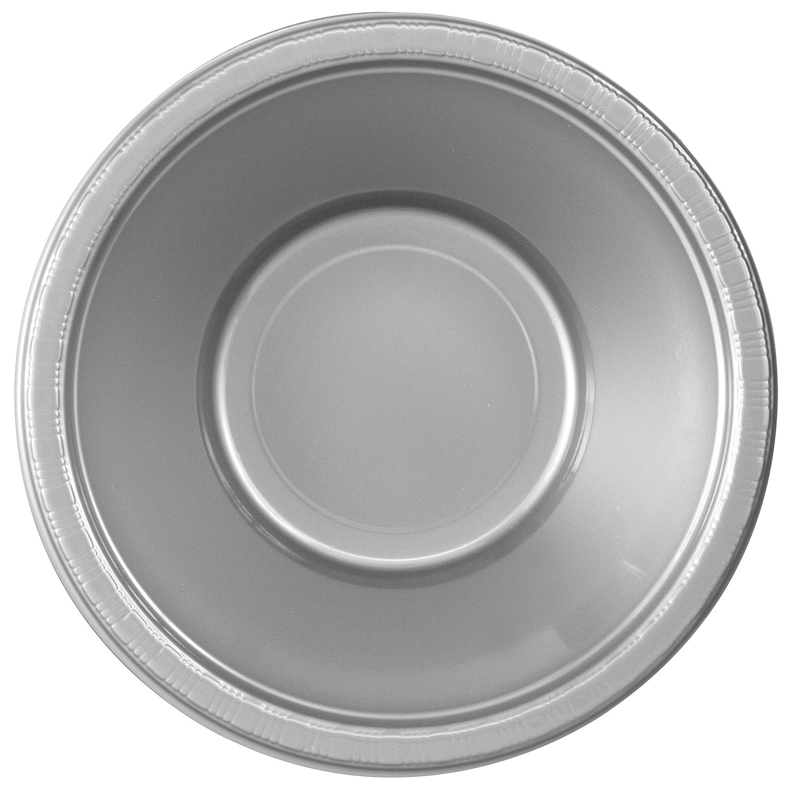 Shimmering Silver (Silver) Plastic Bowls (20 count)
