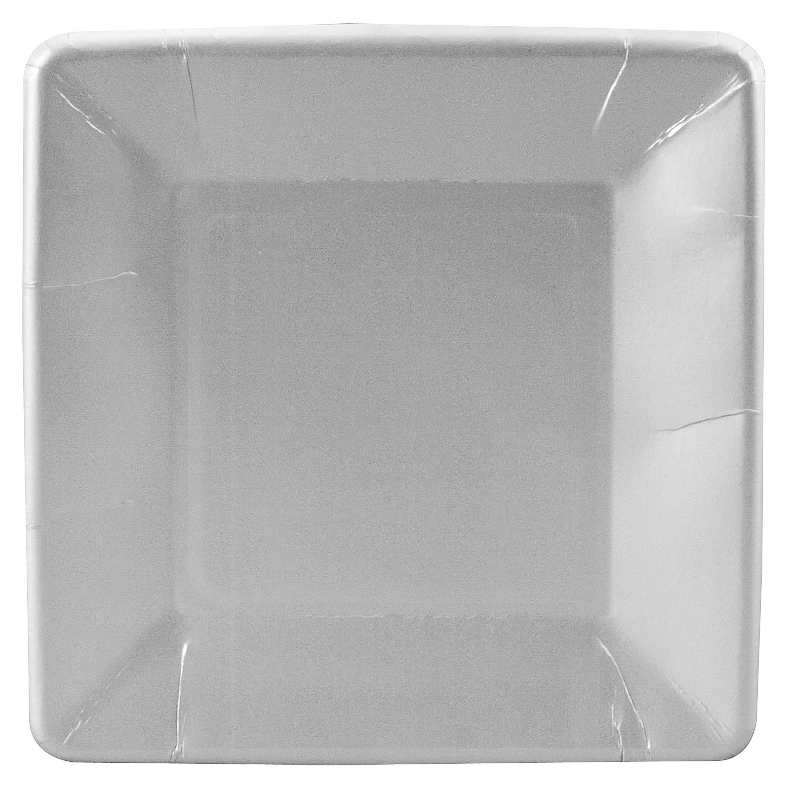 Shimmering Silver (Silver) Square Dessert Plates (18 count)