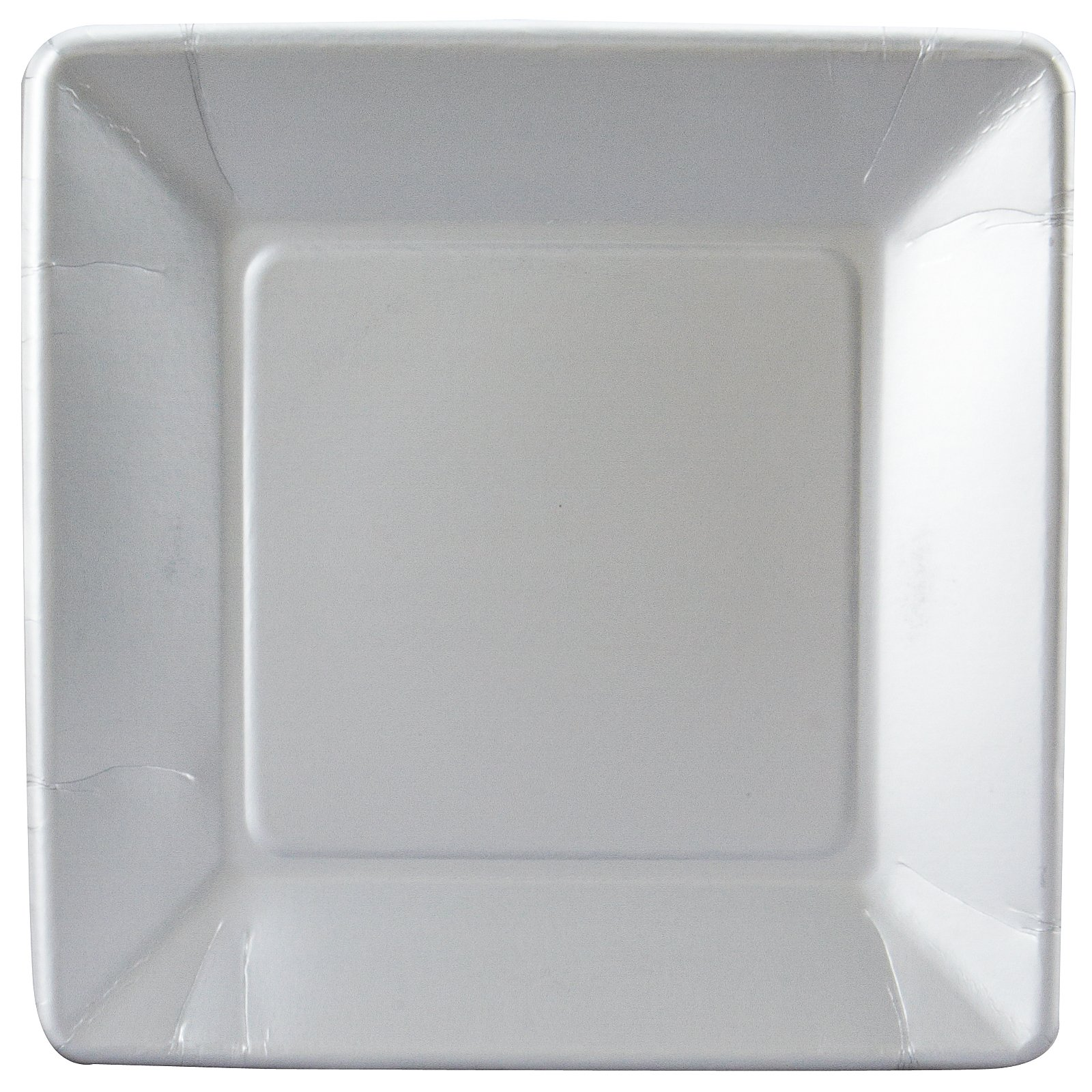 Shimmering Silver (Silver) Square Dinner Plates (18 count)