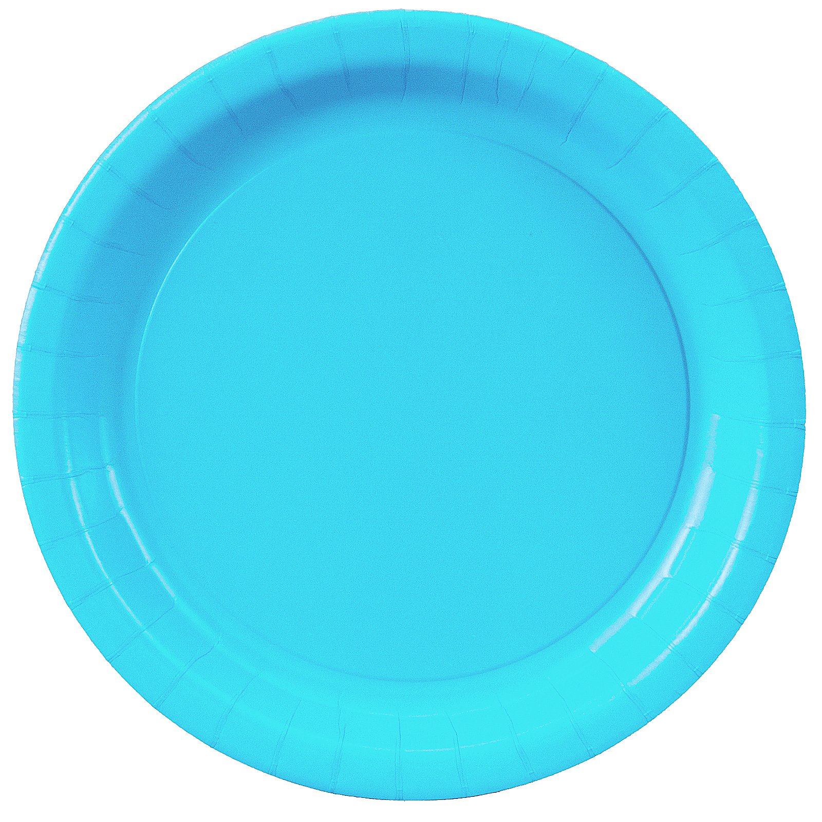 Bermuda Blue (Turquoise) Paper Dinner Plates (24 count)