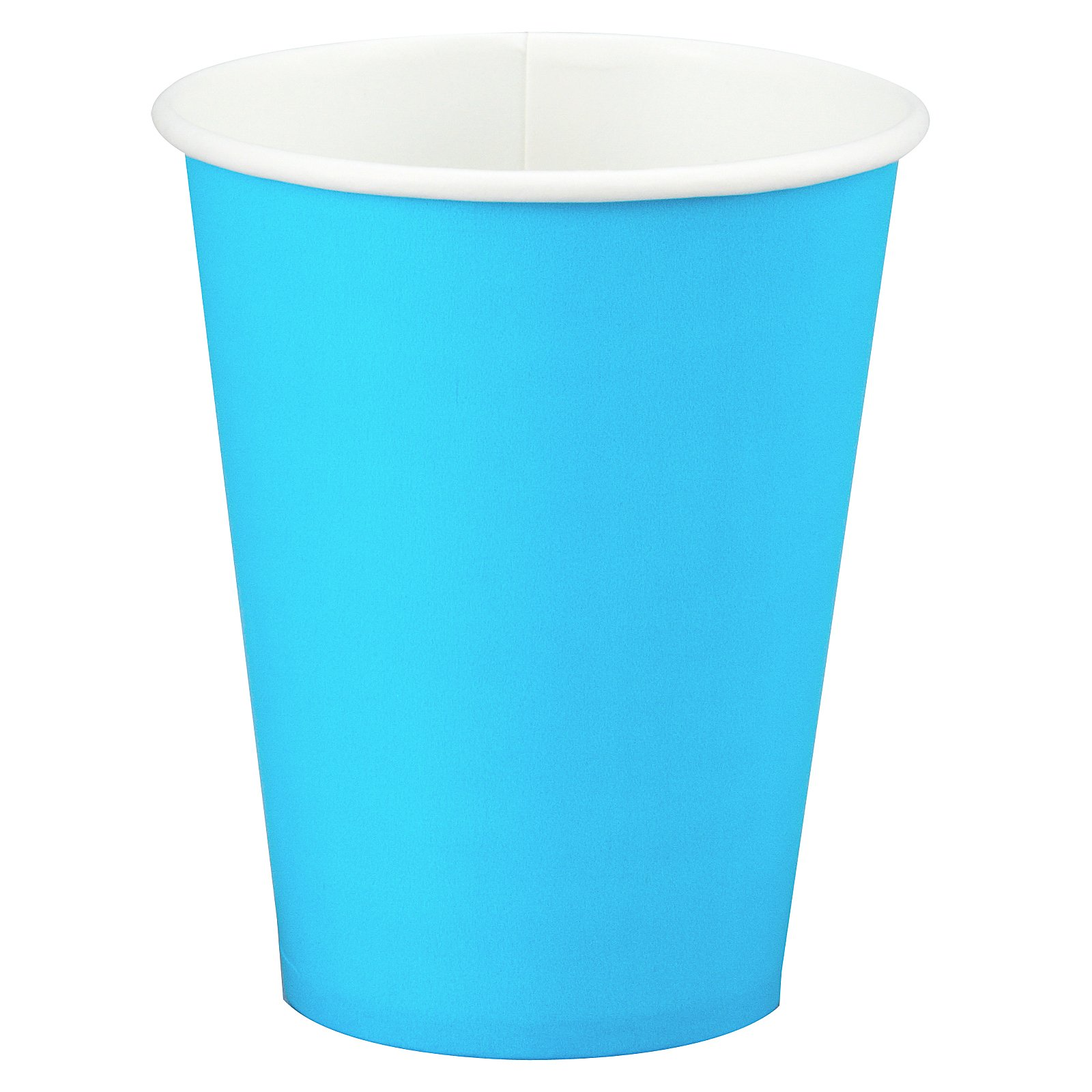 Bermuda Blue (Turquoise) 9 oz. Paper Cups (24 count) - Click Image to Close