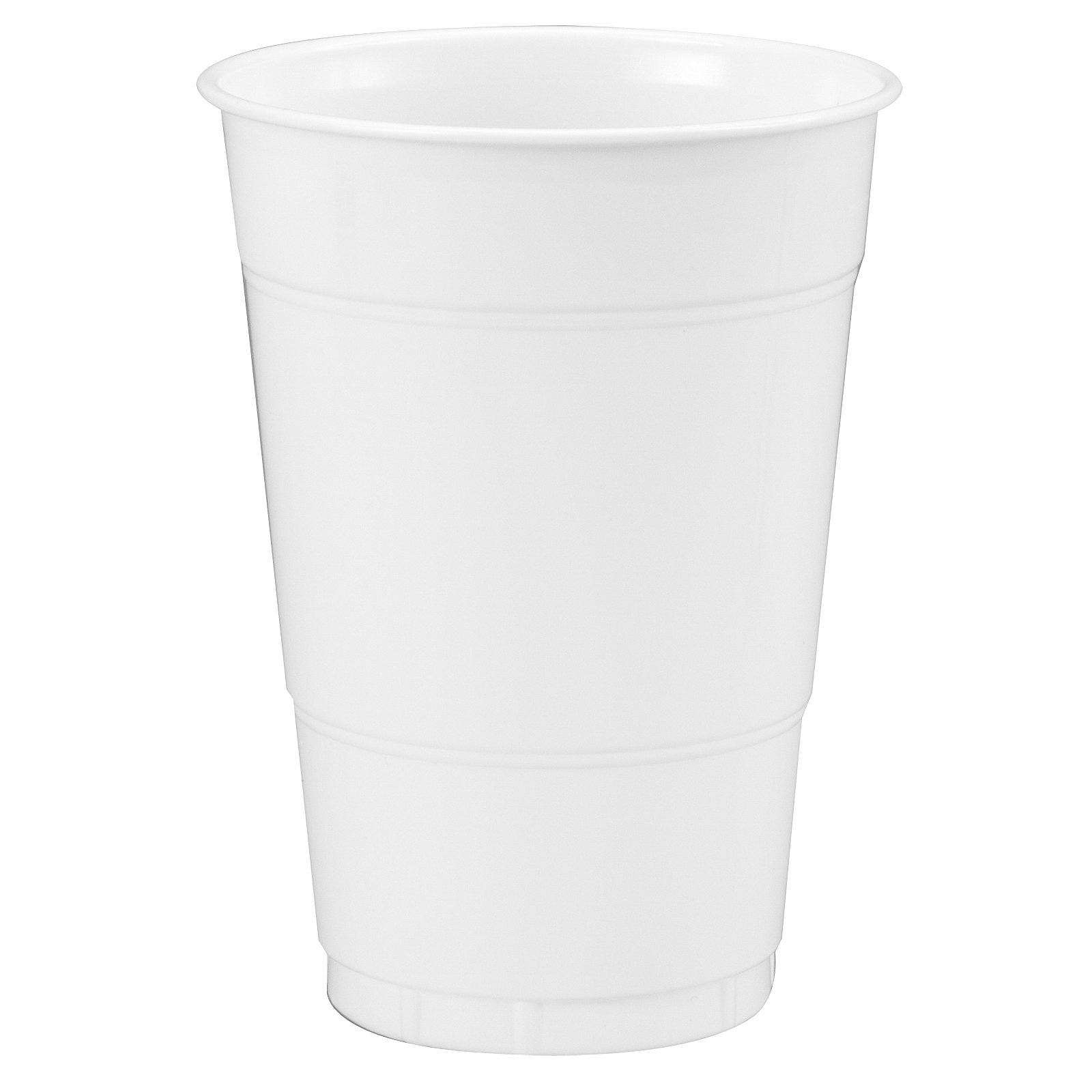 Bright White (White) 16 oz. Plastic Cups (20 count)