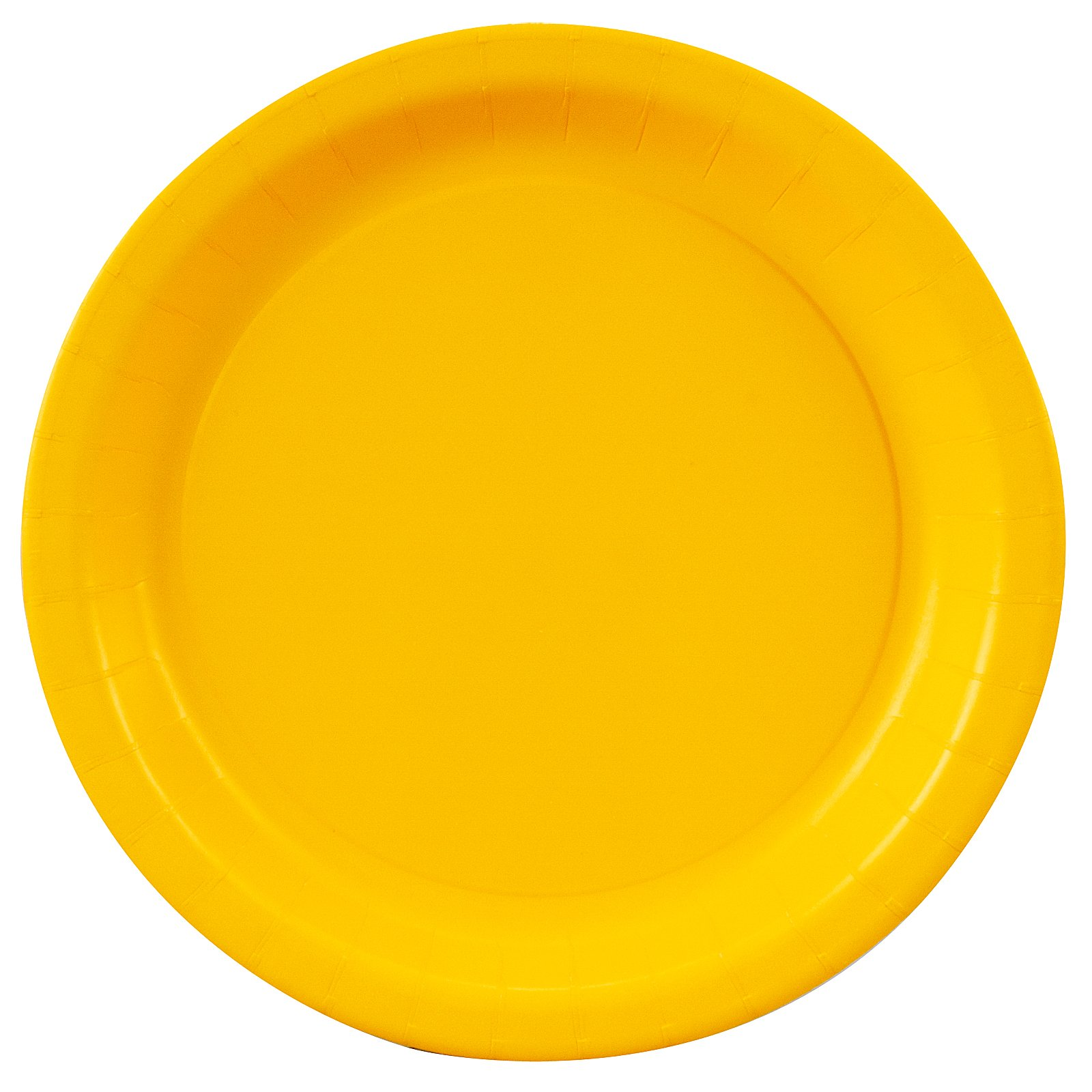 School Bus Yellow (Yellow) Dessert Plates (24 count)