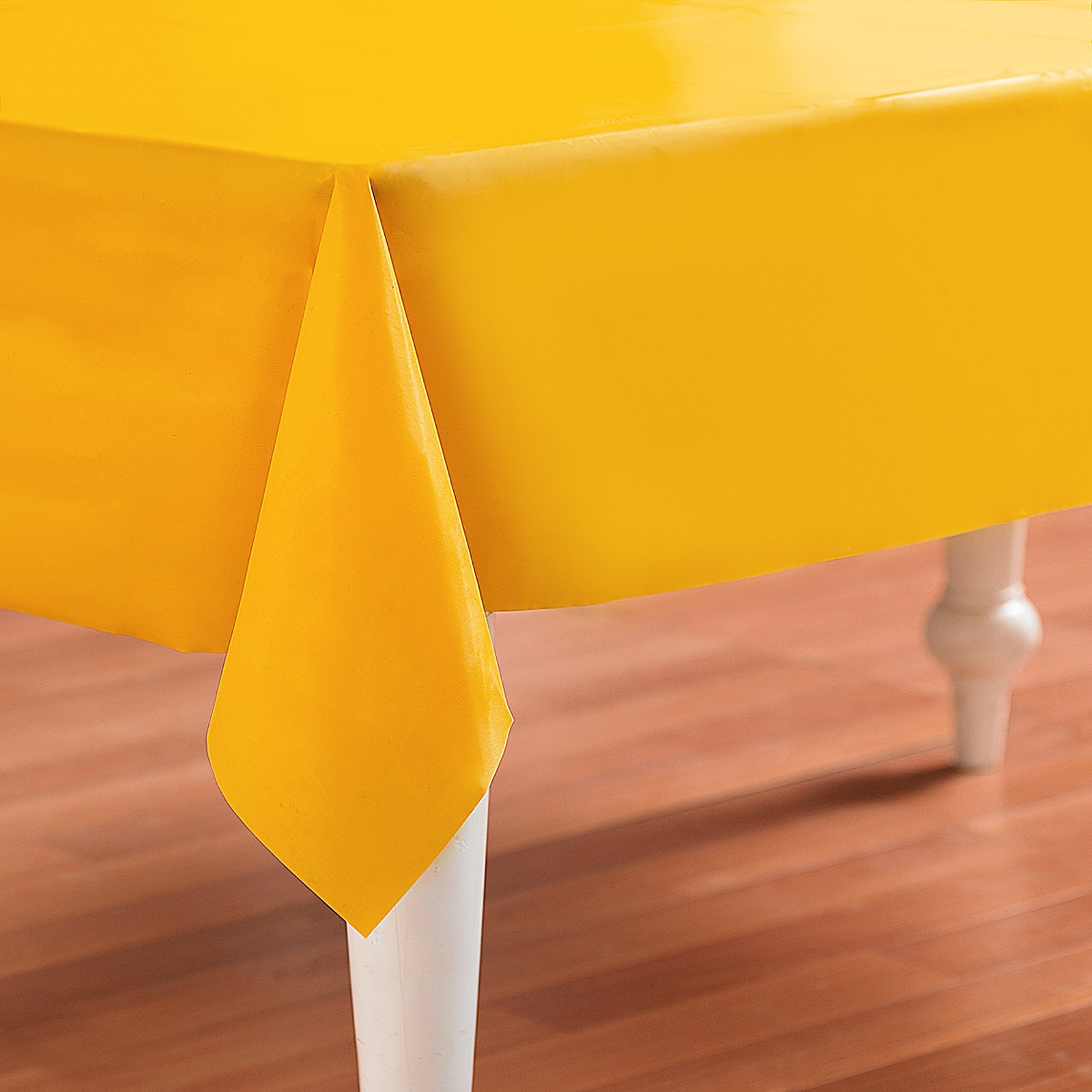 School Bus Yellow (Yellow) Plastic Tablecover