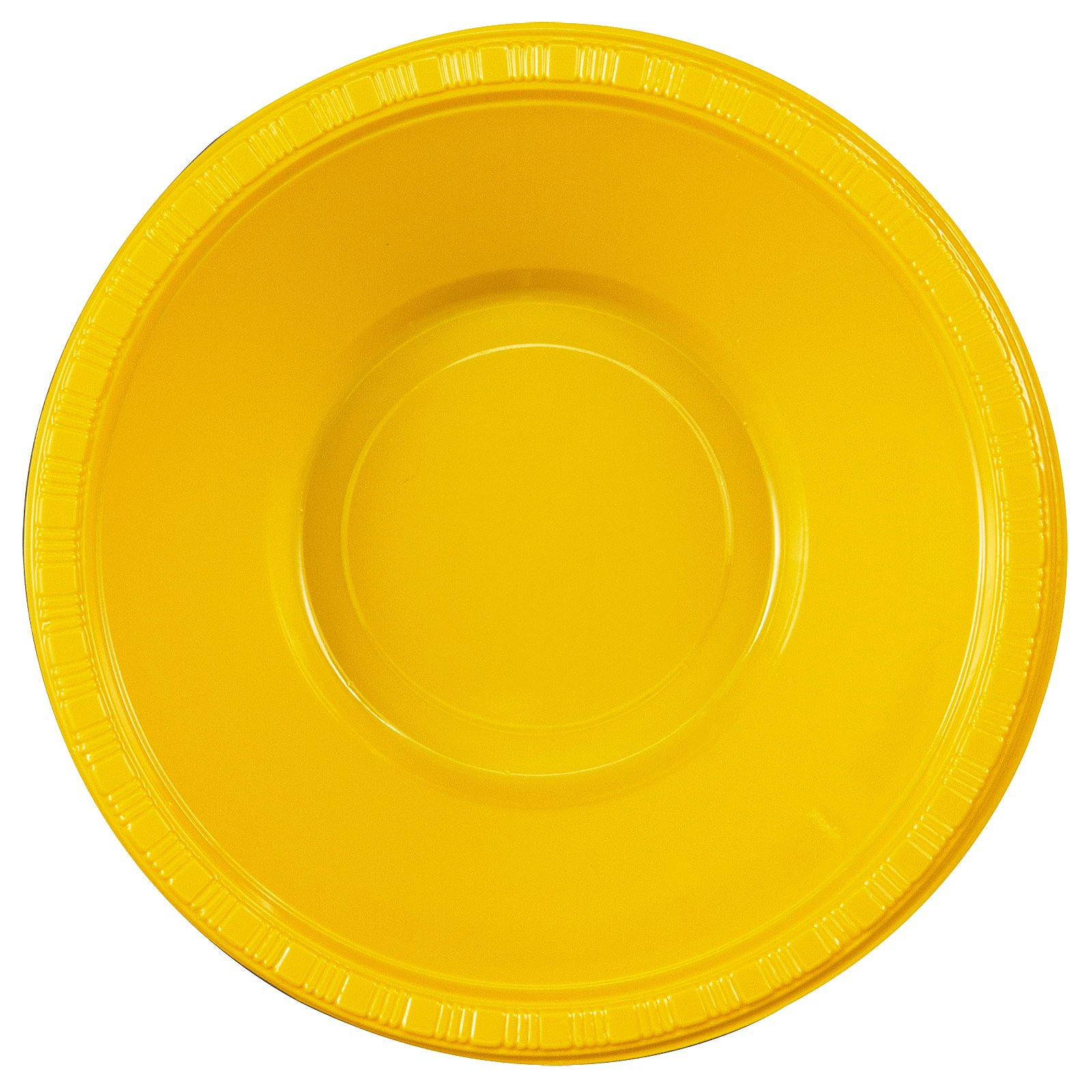 School Bus Yellow (Yellow) Plastic Bowls (20 count)