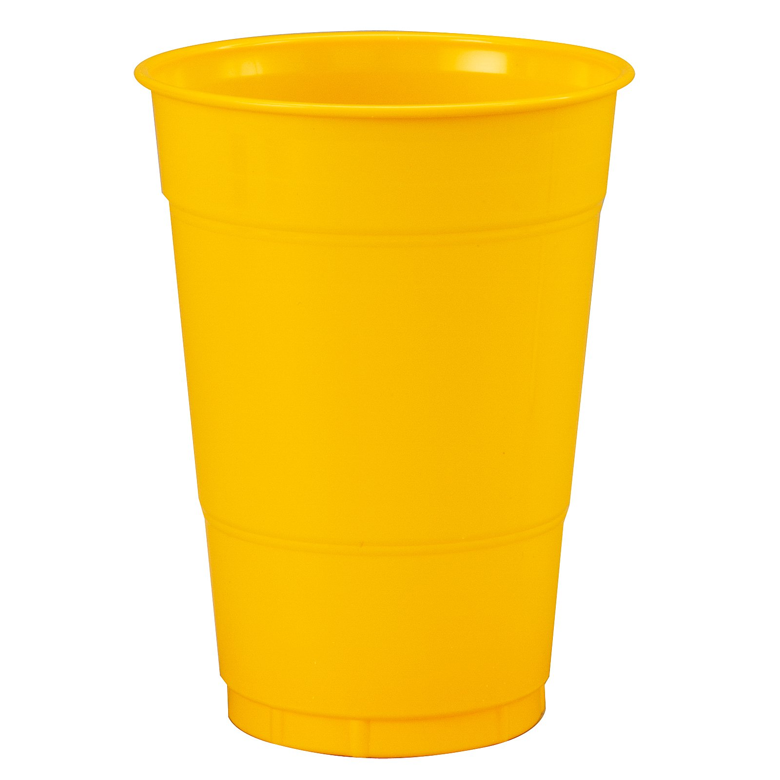 School Bus Yellow (Yellow) 16 oz. Plastic Cups (20 count)