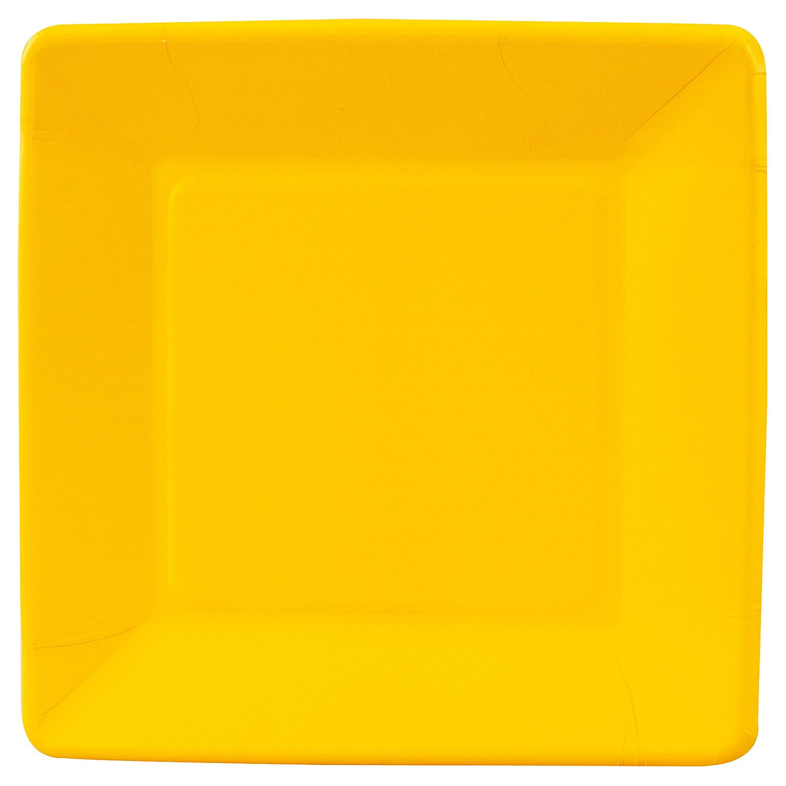 School Bus Yellow (Yellow) Square Dinner Plates (18 count)