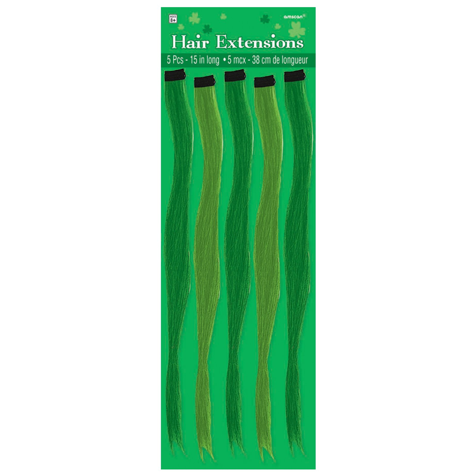 St. Patrick's Day Green Hair Extensions (5 count)