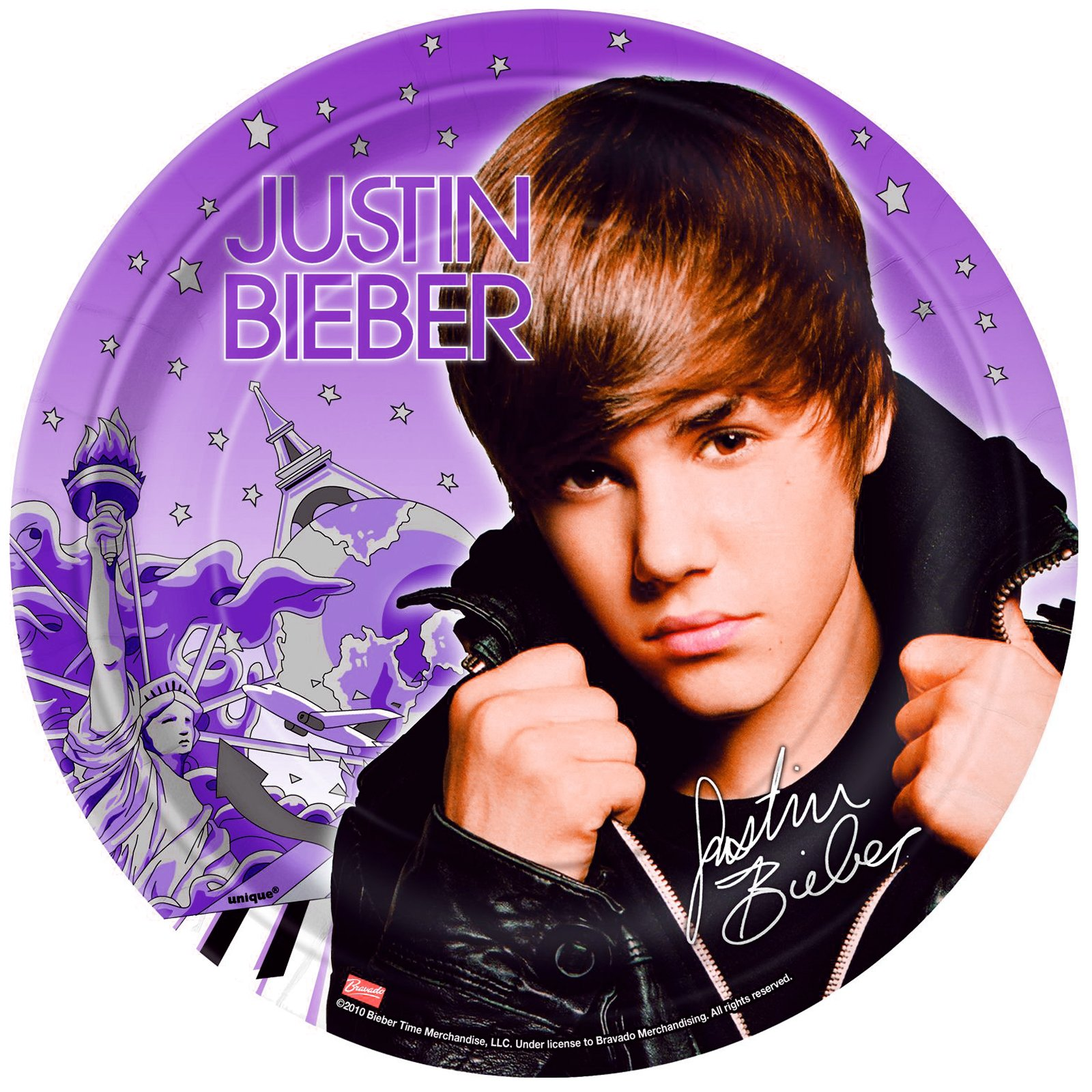 Justin Bieber Dinner Plates (8 count)