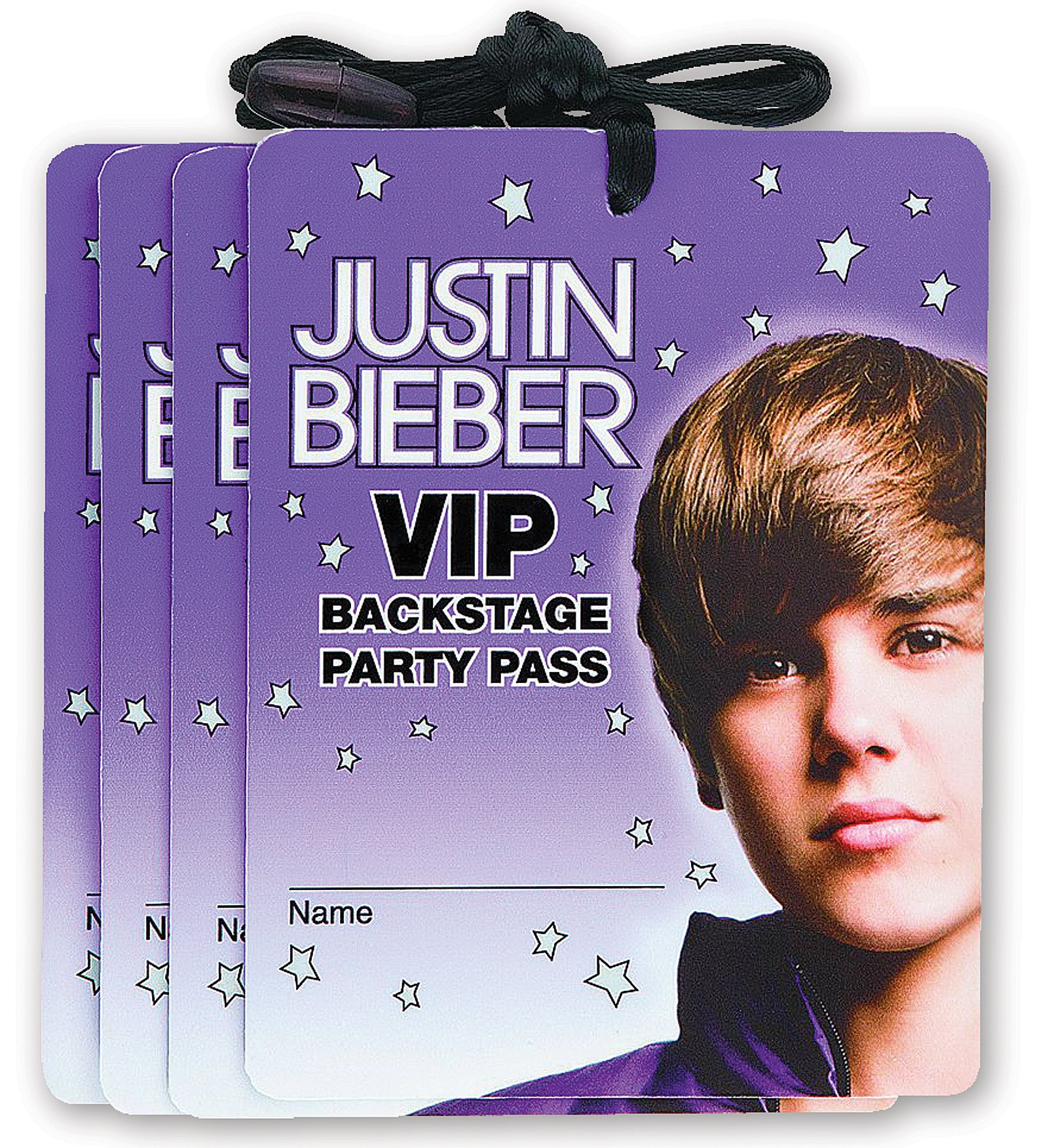 Justin Bieber VIP Backstage Passes (4 count)