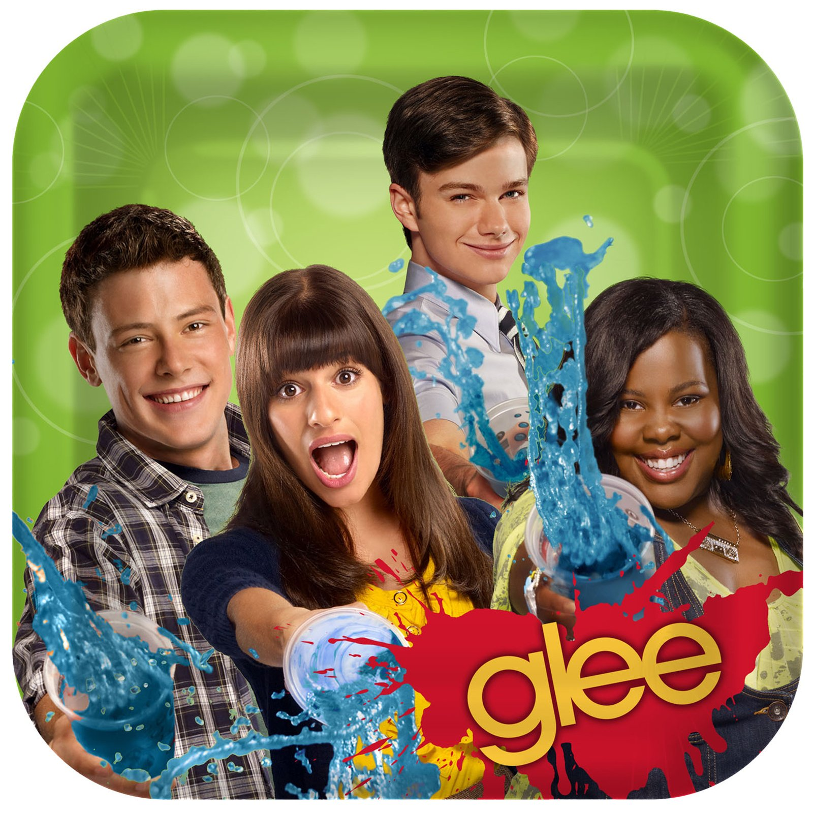 Glee Square Dinner Plates (8 count)