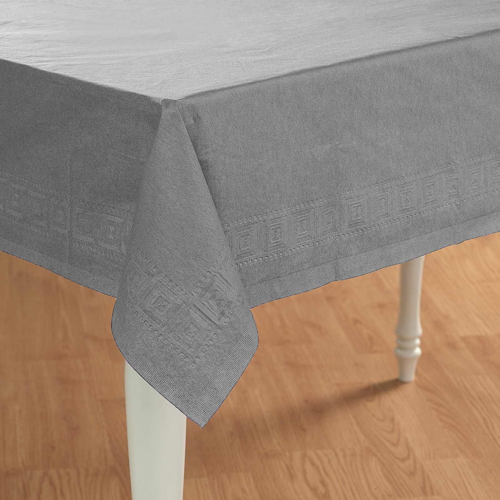 Shimmering Silver (Silver) Paper Tablecover
