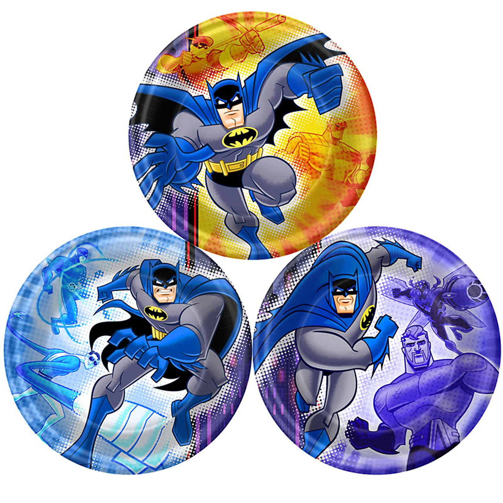 Batman Brave and Bold Dessert Plates Assorted (8 count)
