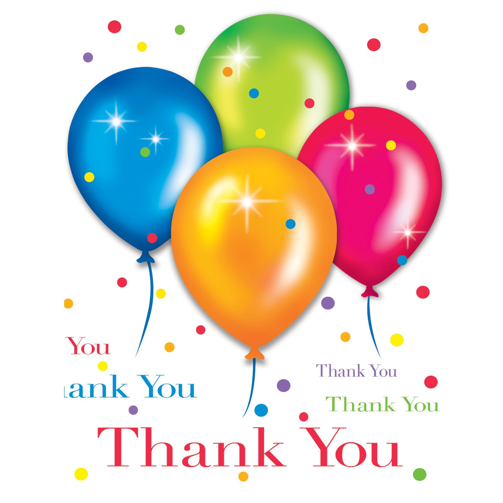 Birthday Balloons Thank You Cards (8 count)