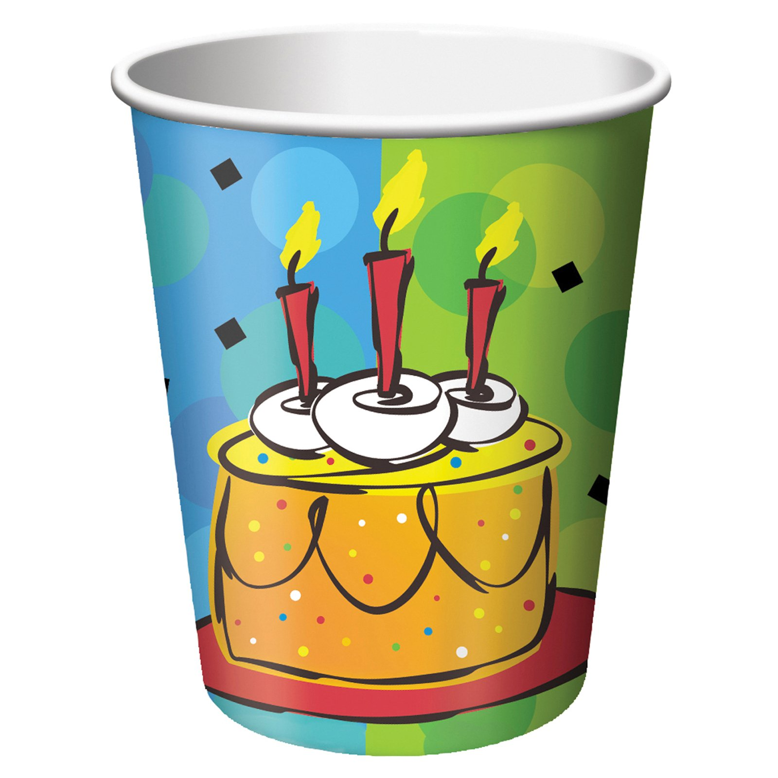 Cake Celebration 9 oz. Paper Cups (8 count)