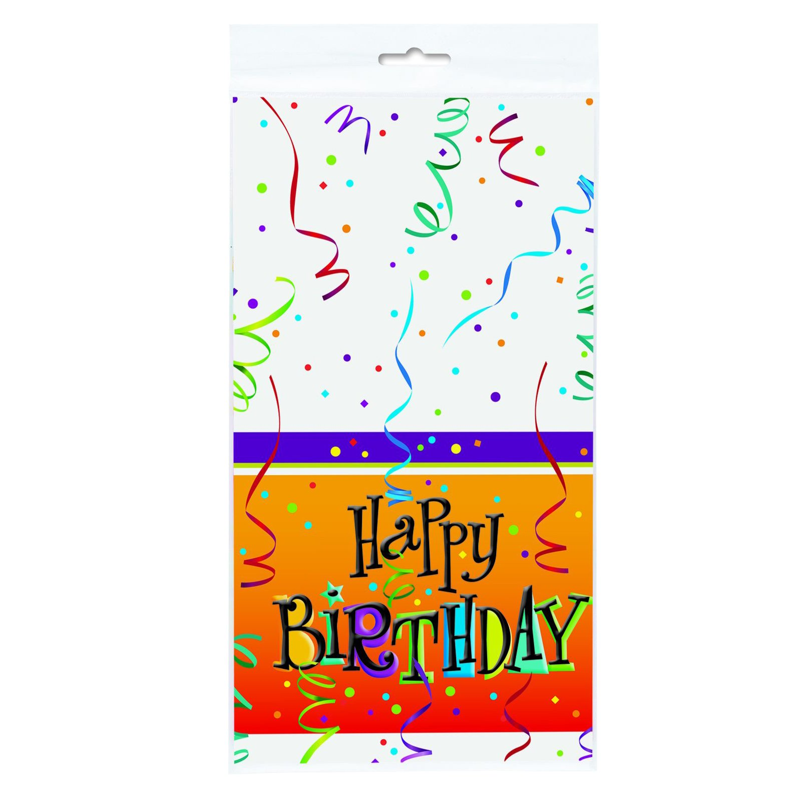 Lively Birthday Plastic Tablecover