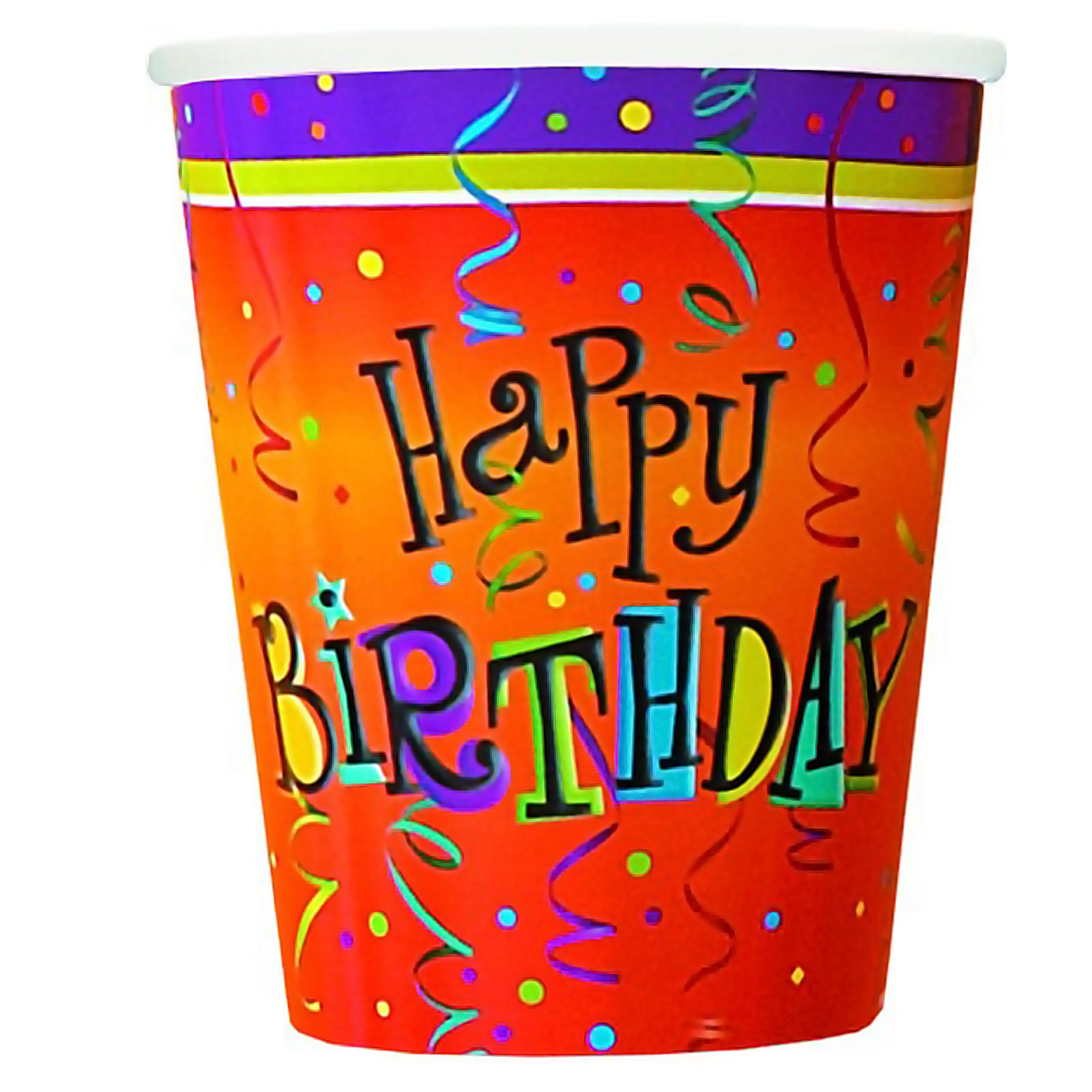 Lively Birthday 9 oz. Paper Cups (8 count)
