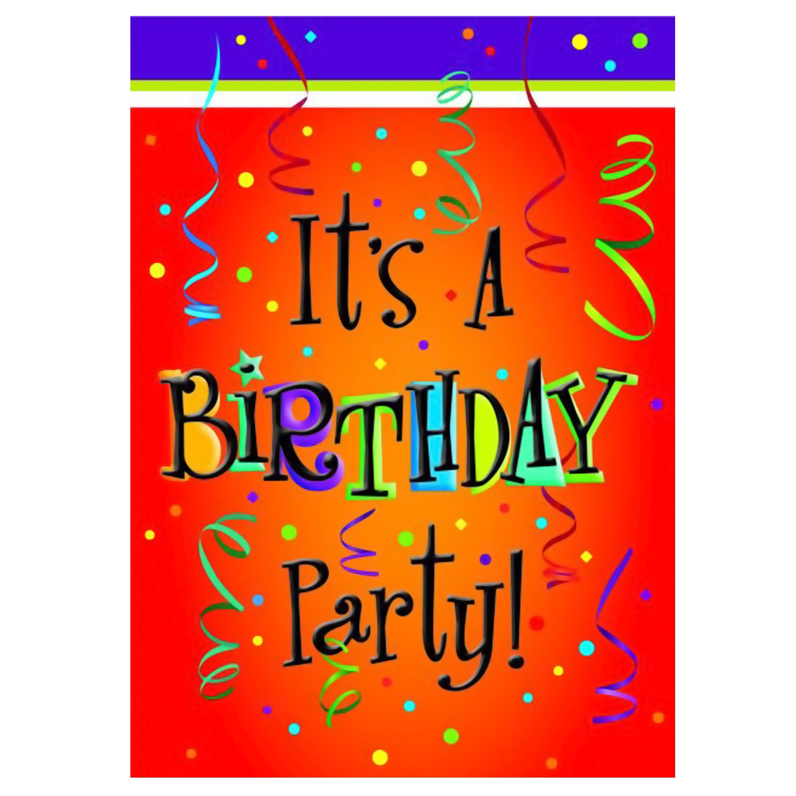 Lively Birthday Invitations (8 count)