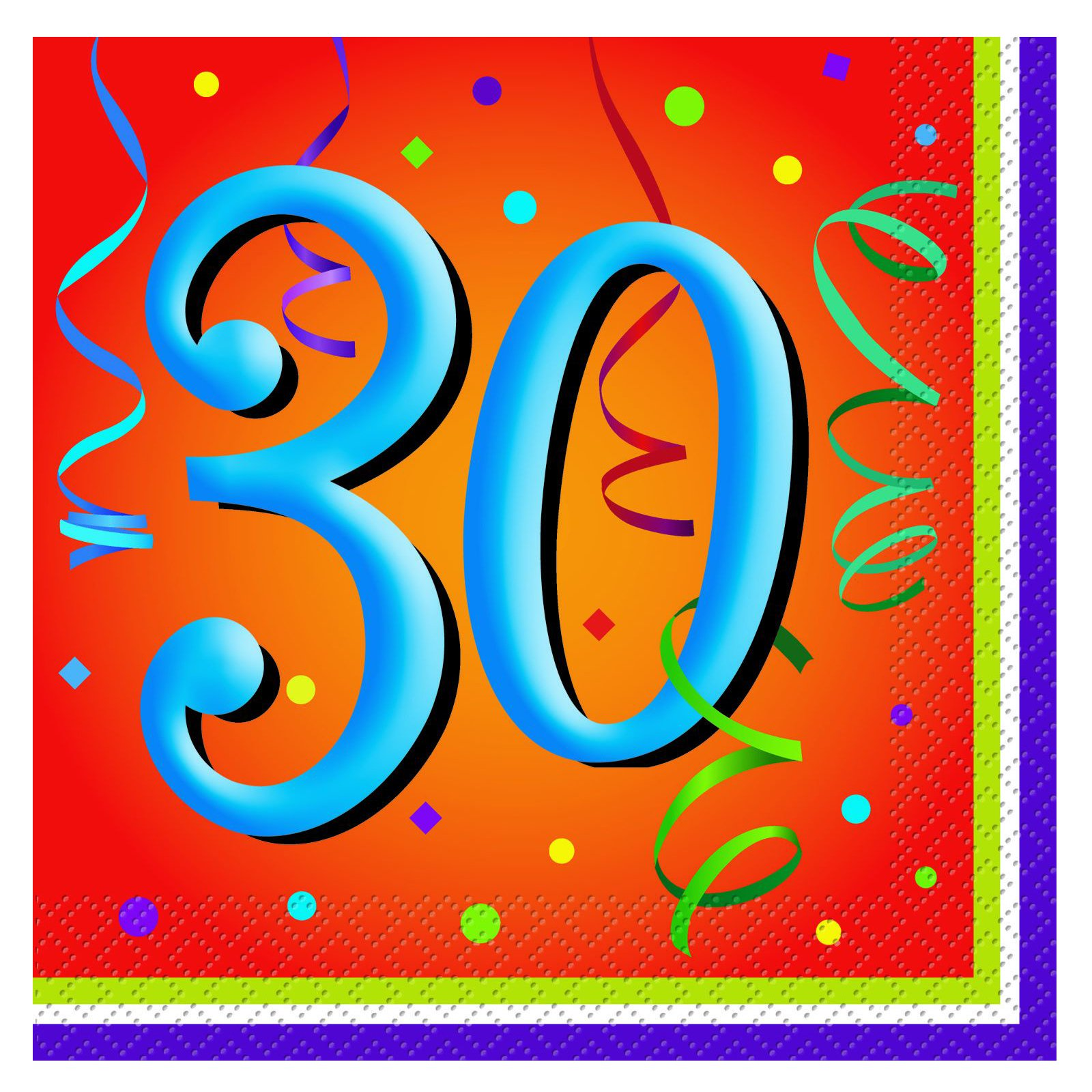 Lively Birthday 30 - Lunch Napkins (16 count)